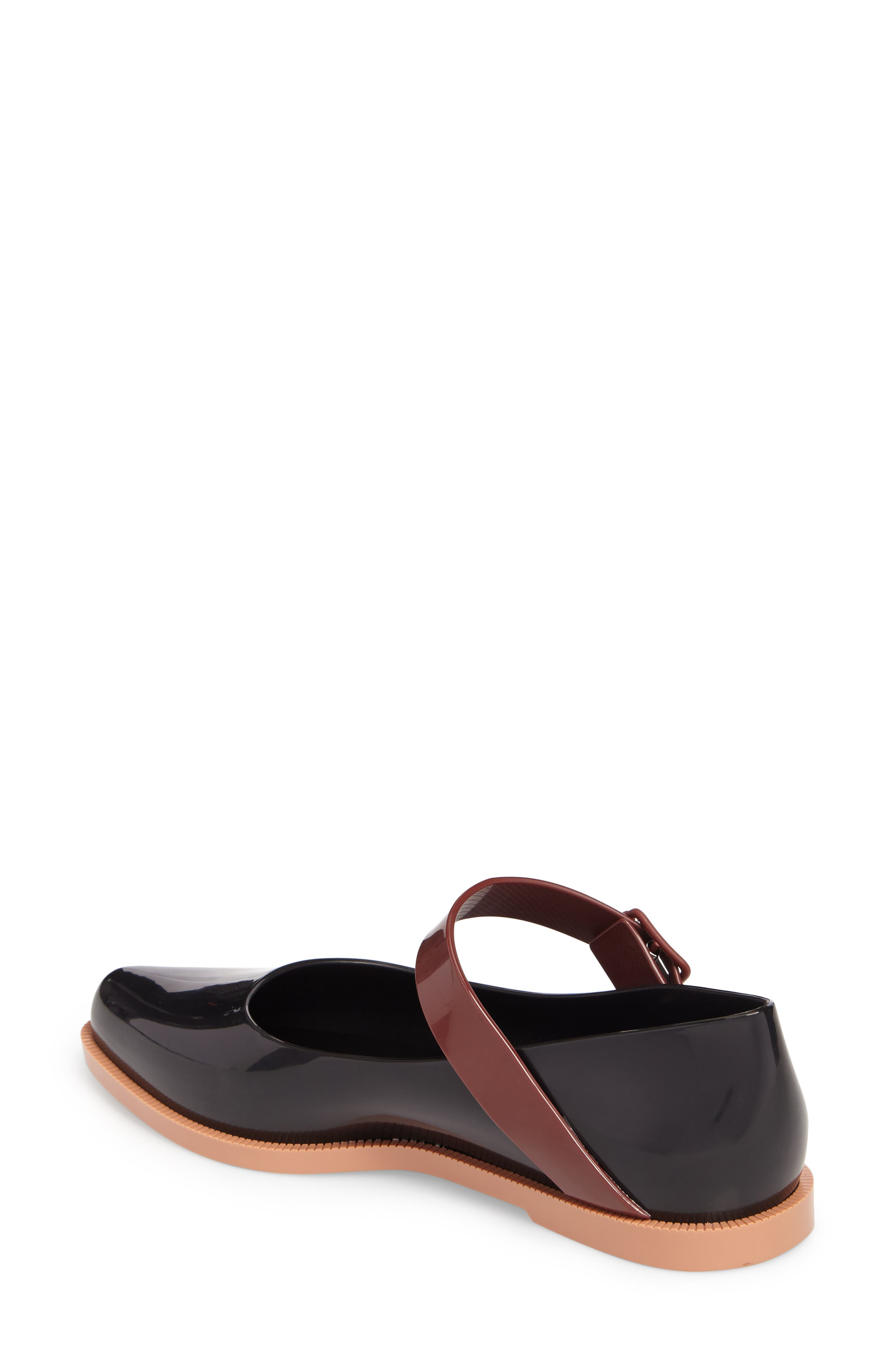 Pointy Toe Mary Jane Flat,                             Alternate thumbnail 2, color,                             Black Brown