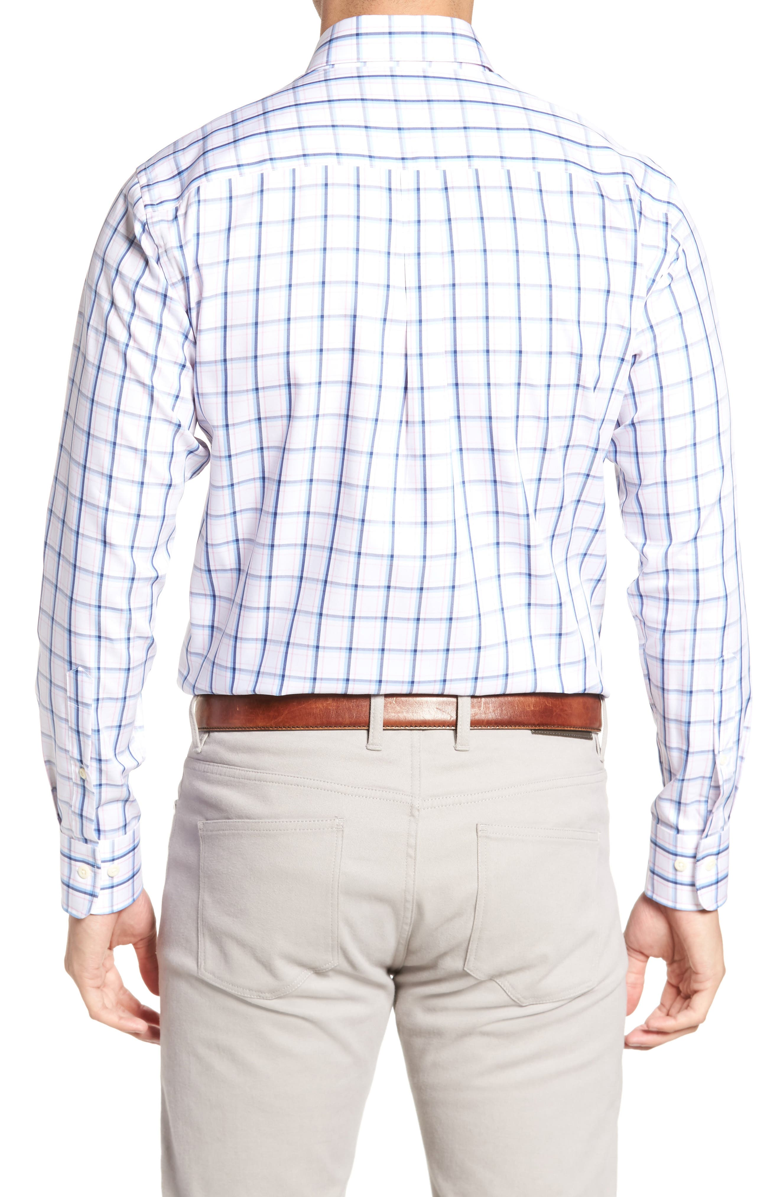 Crown Windowpane Sport Shirt,                             Alternate thumbnail 2, color,                             Tahoe Blue