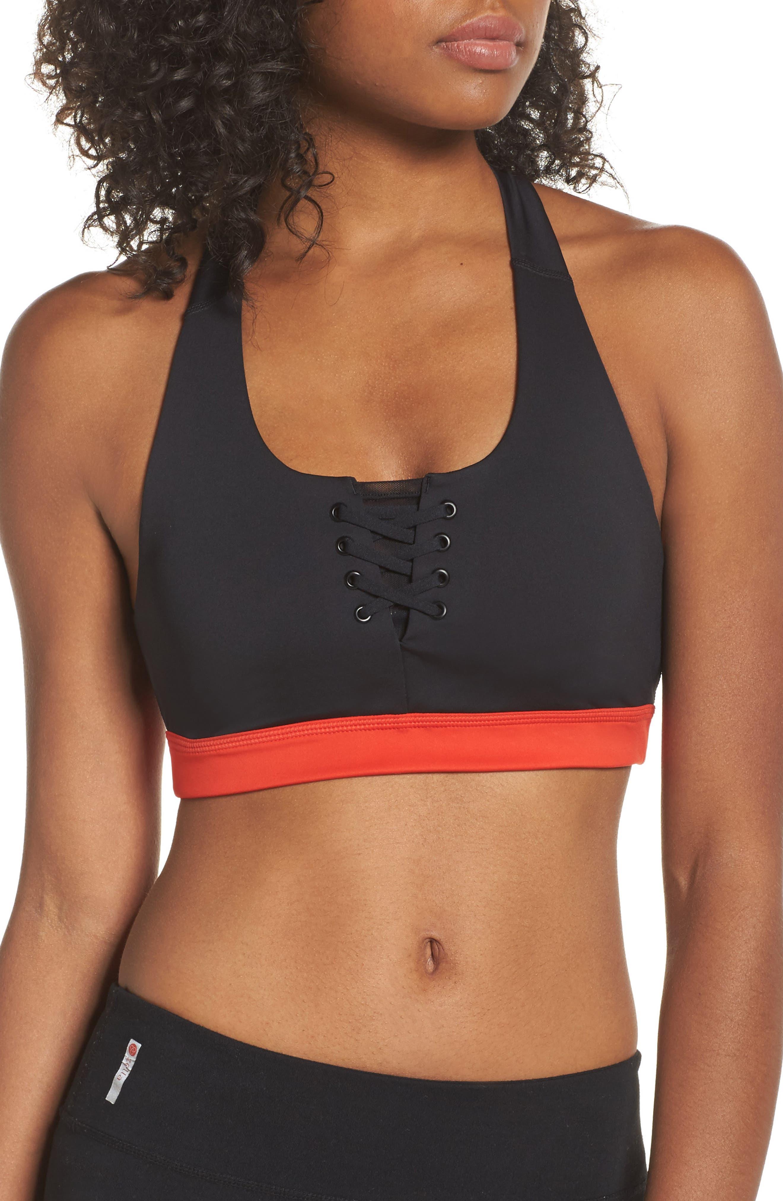 Main Image - Zella Lace It Up Sports Bra