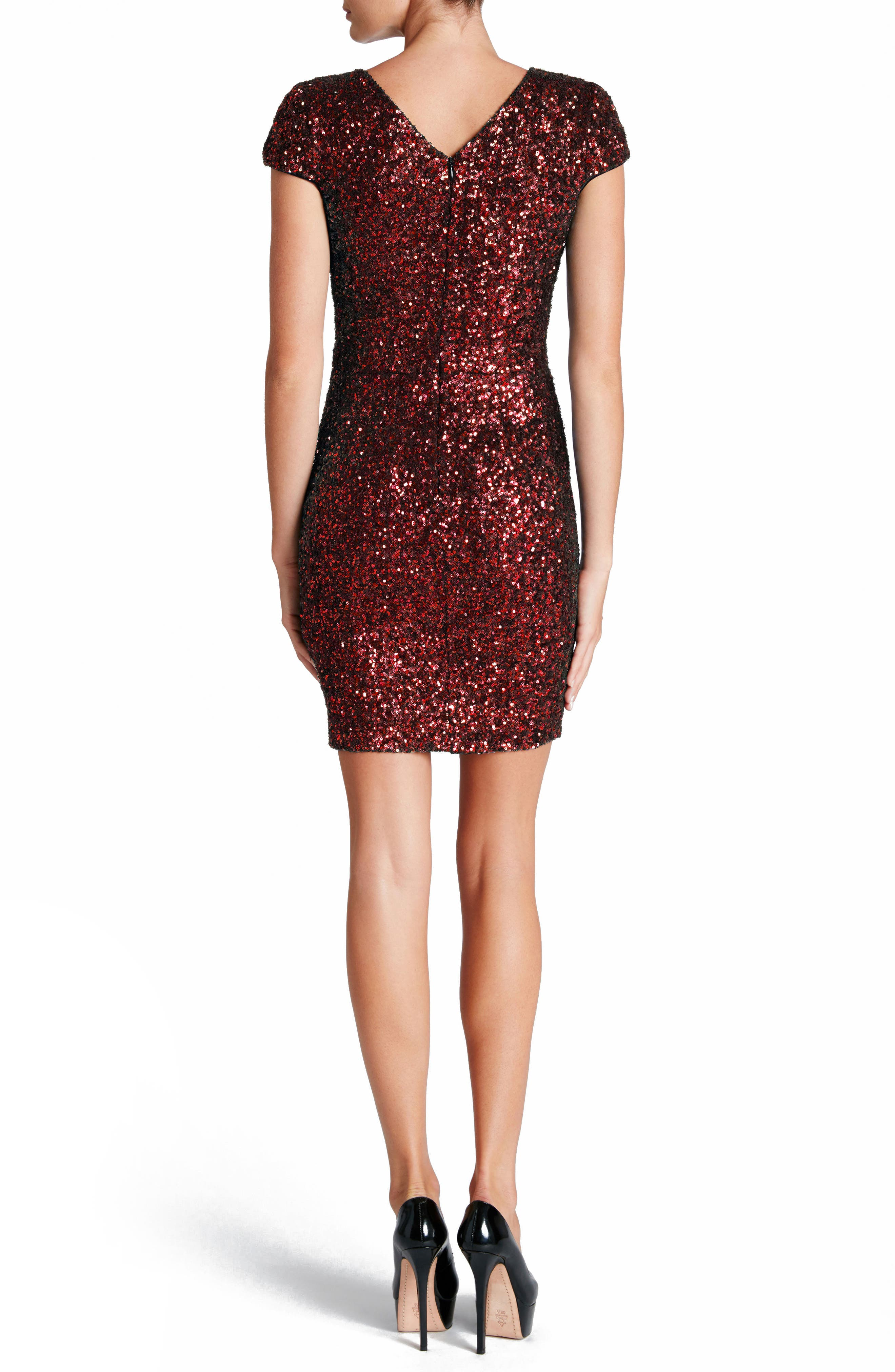 Alternate Image 2  - Dress the Population Zoe Sequin Minidress (Nordstrom Exclusive)