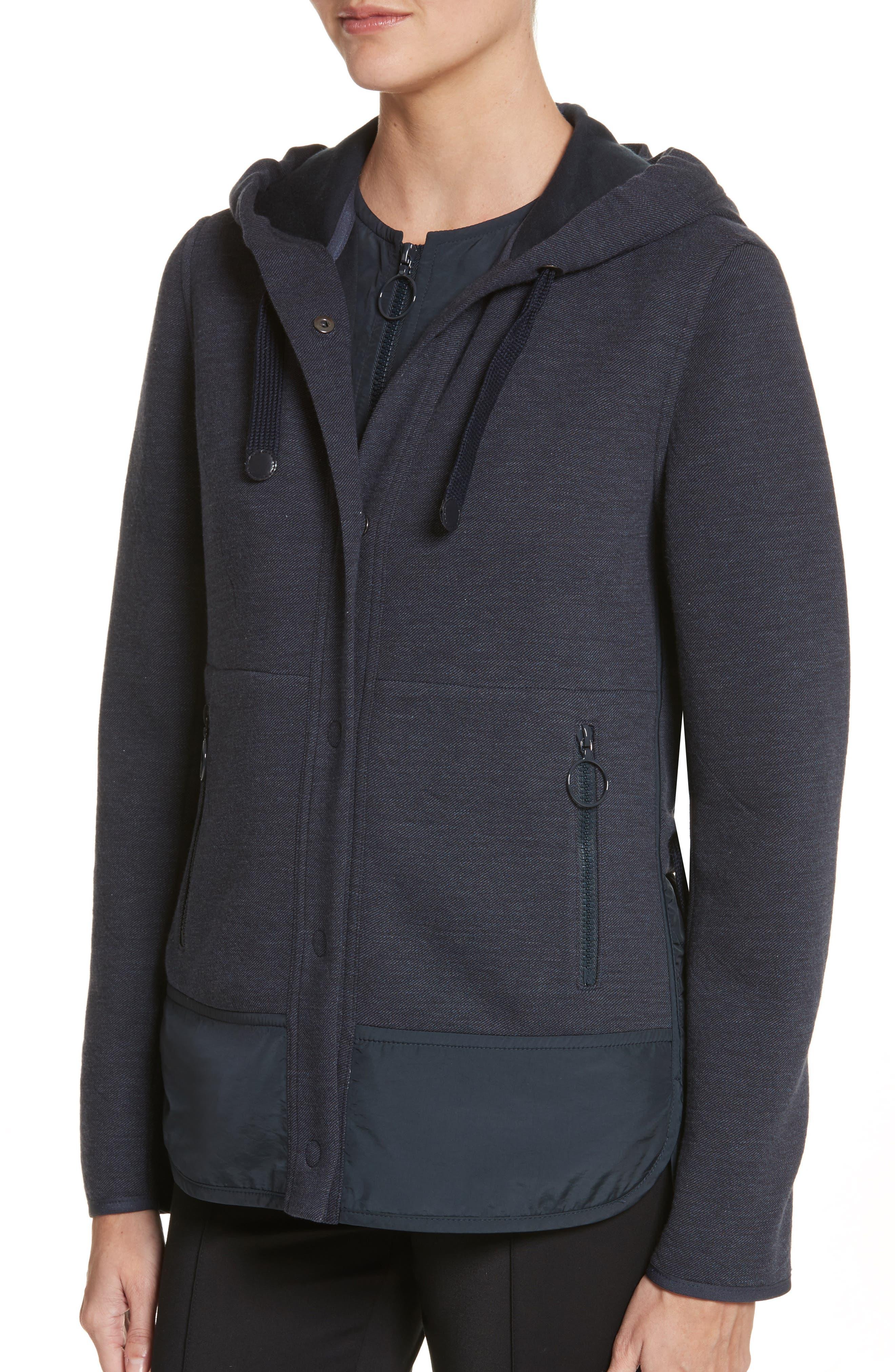 Two-Piece Hooded Jacket,                             Alternate thumbnail 4, color,                             Indigo