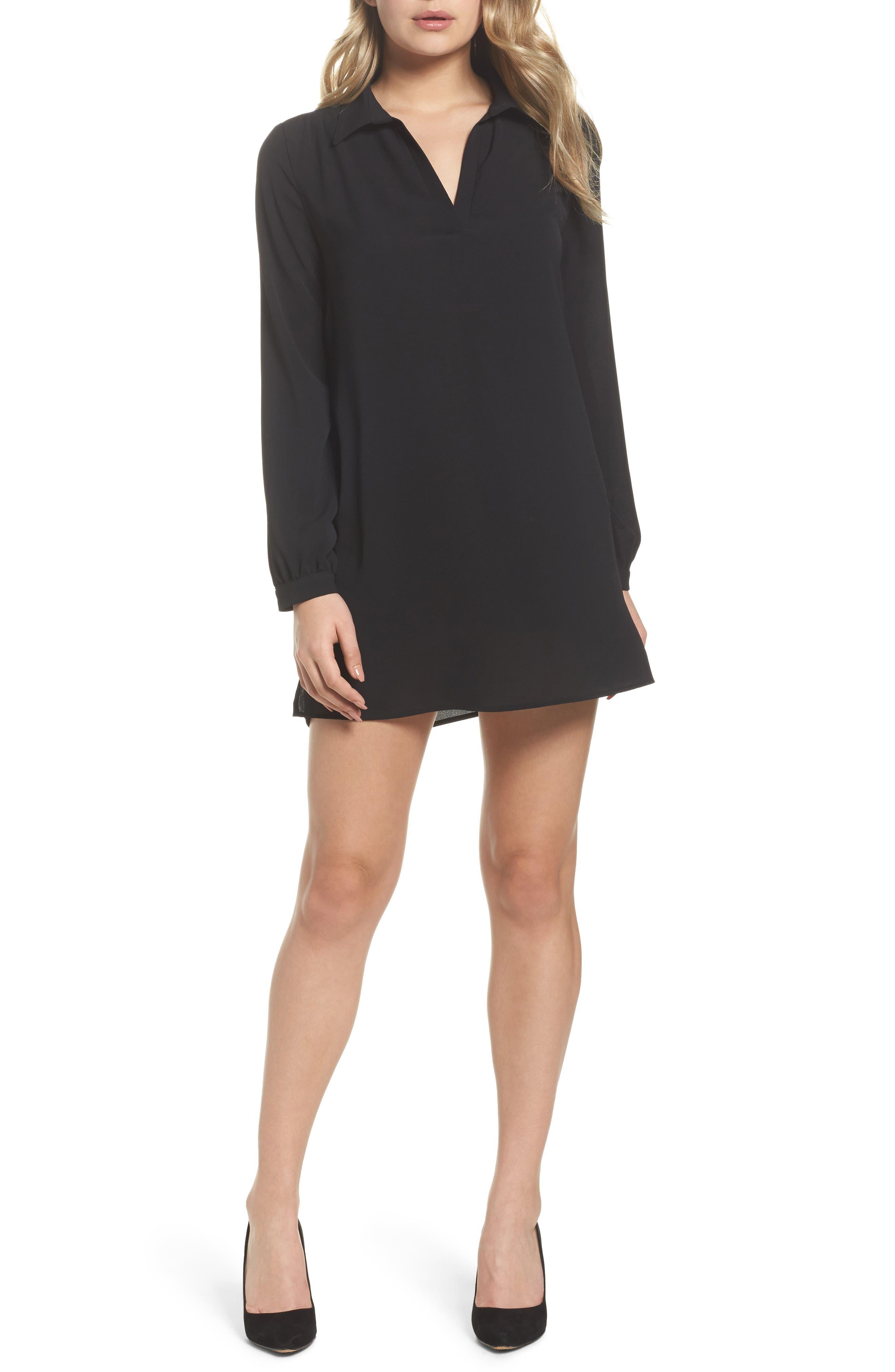 Shirtdress,                         Main,                         color, Black