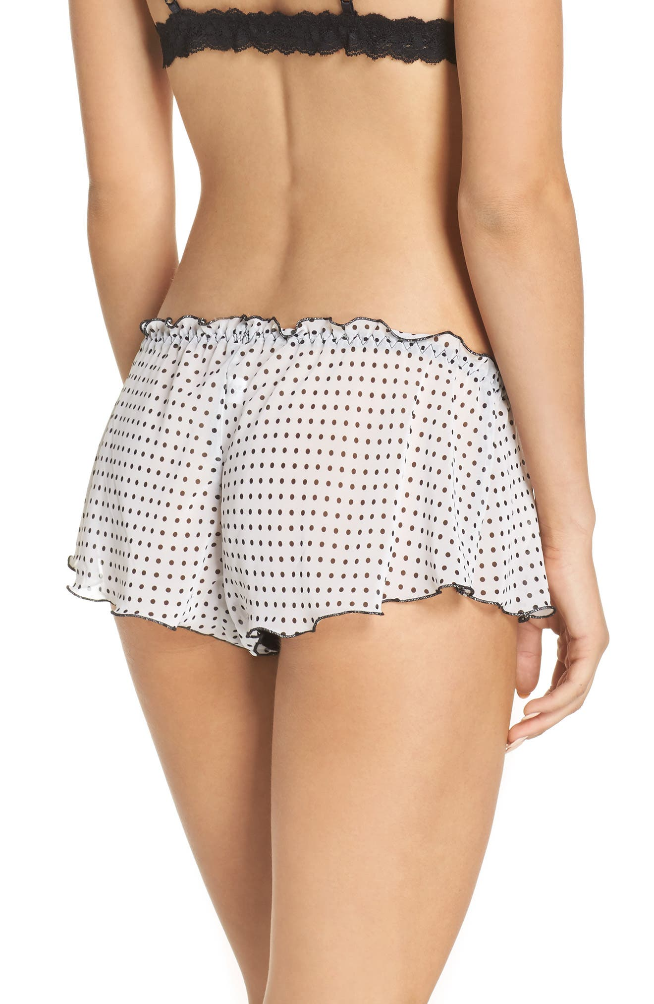Alternate Image 2  - Hanky Panky Spot On Chiffon Tap Shorts