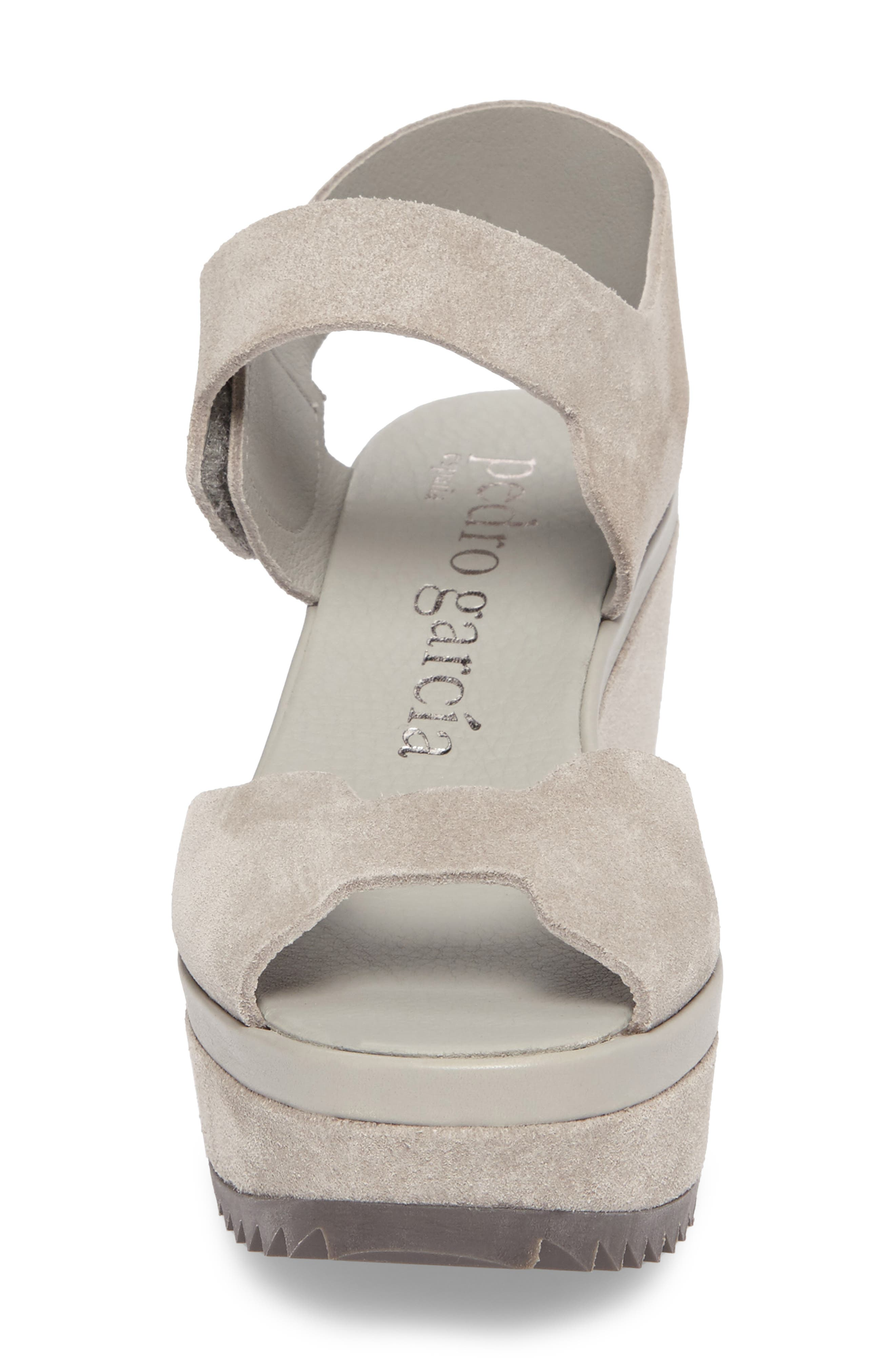 Fah Platform Wedge Sandal,                             Alternate thumbnail 4, color,                             Pumice Castoro