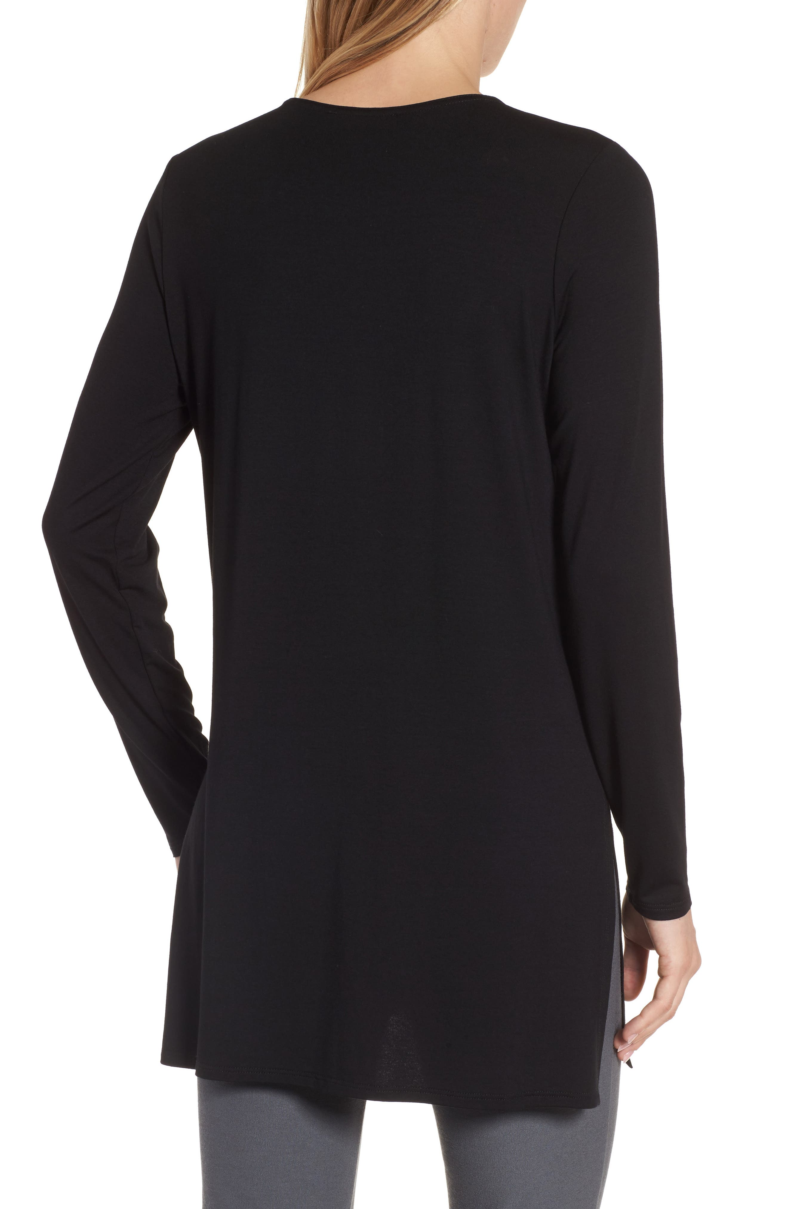 Jersey Tunic,                             Alternate thumbnail 2, color,                             Black