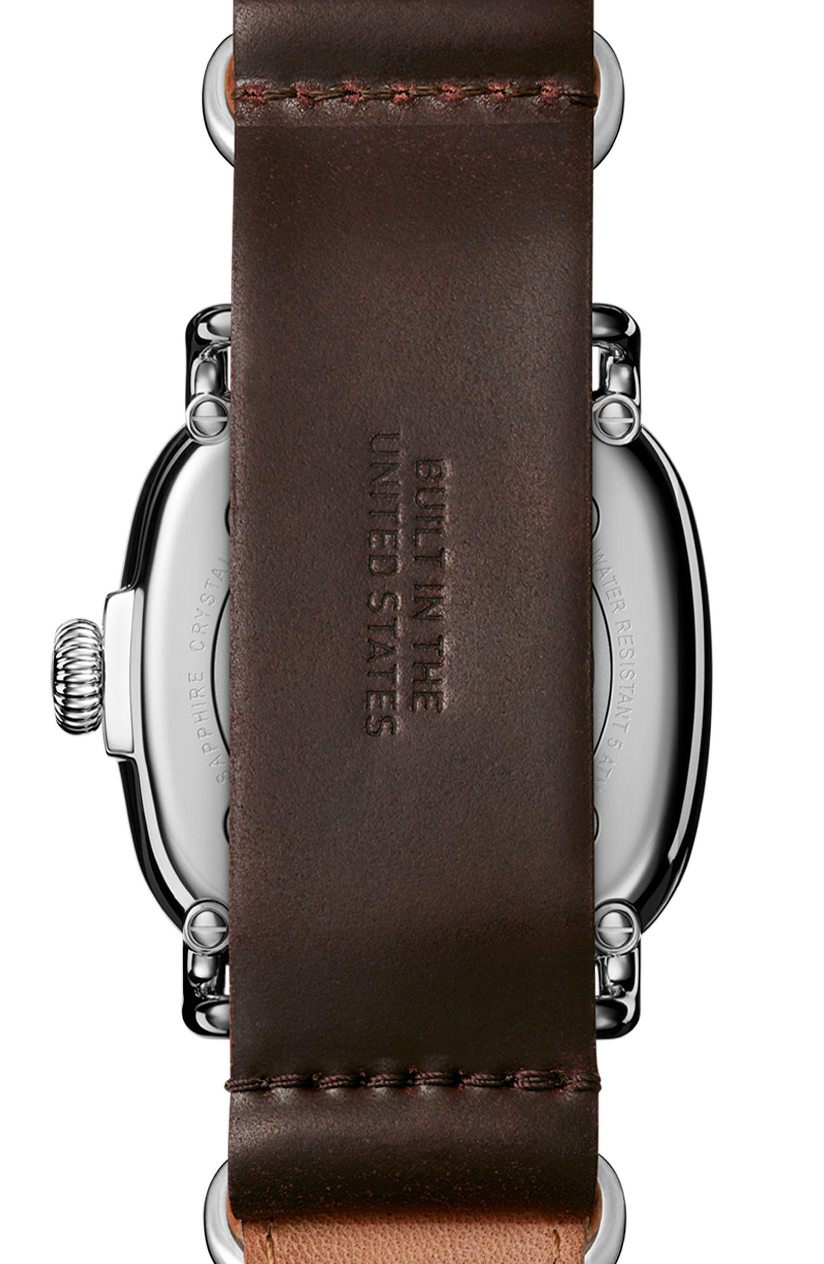 Alternate Image 2  - Shinola The Guardian Leather Strap Watch, 41.5mm x 43mm