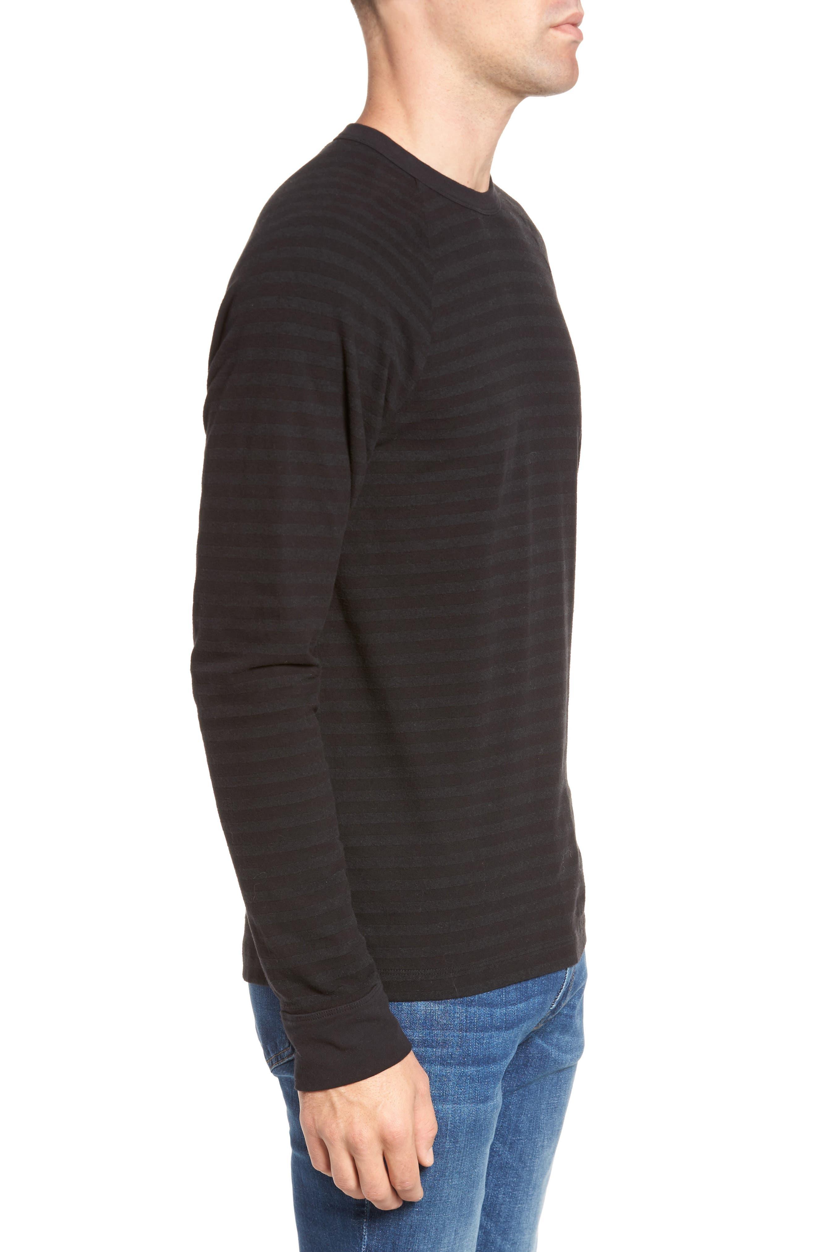 Alternate Image 3  - James Perse Shadow Stripe Raglan Pullover