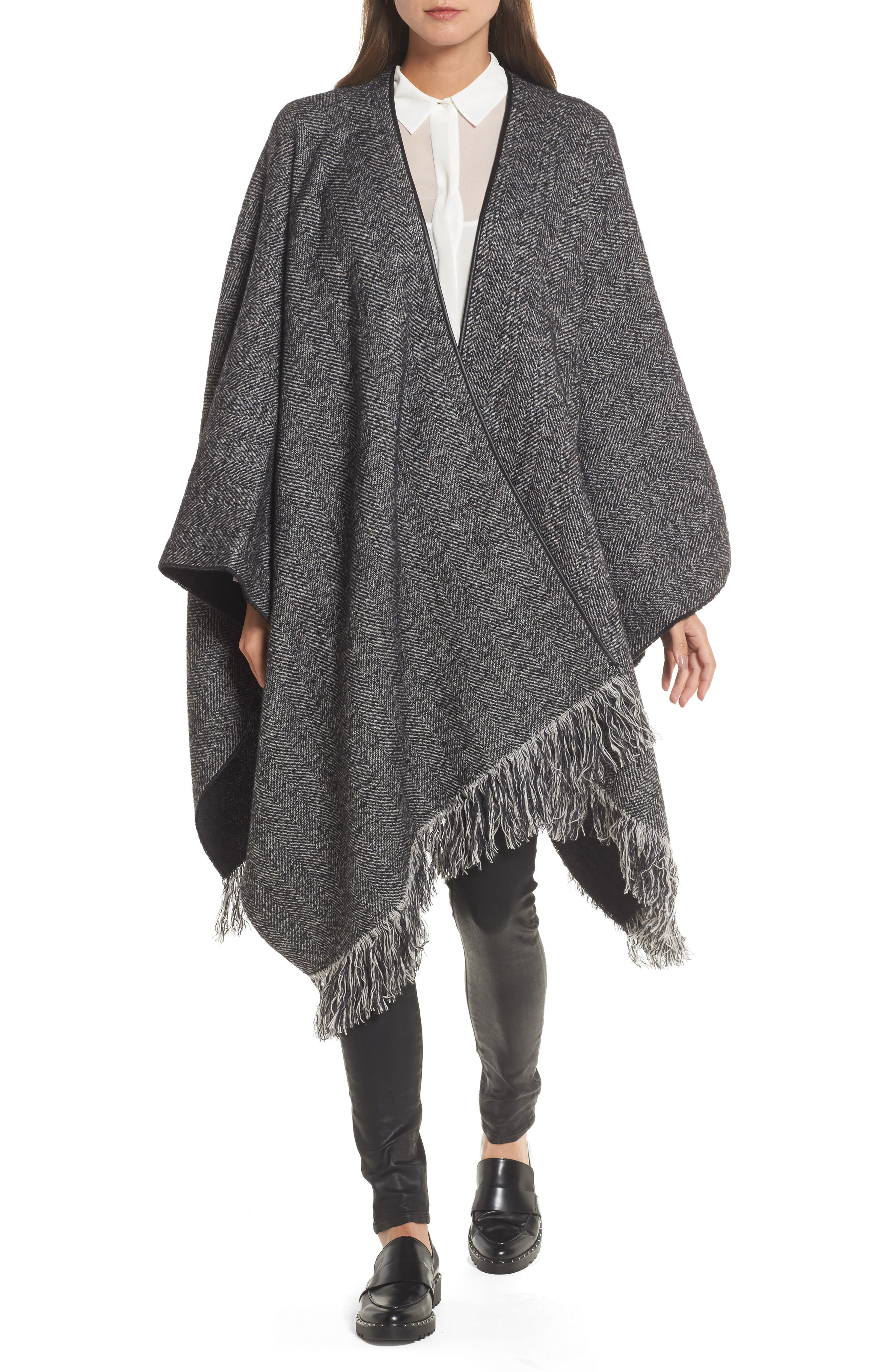 Alternate Image 1 Selected - Max Mara Herringbone Cashmere & Wool Cape