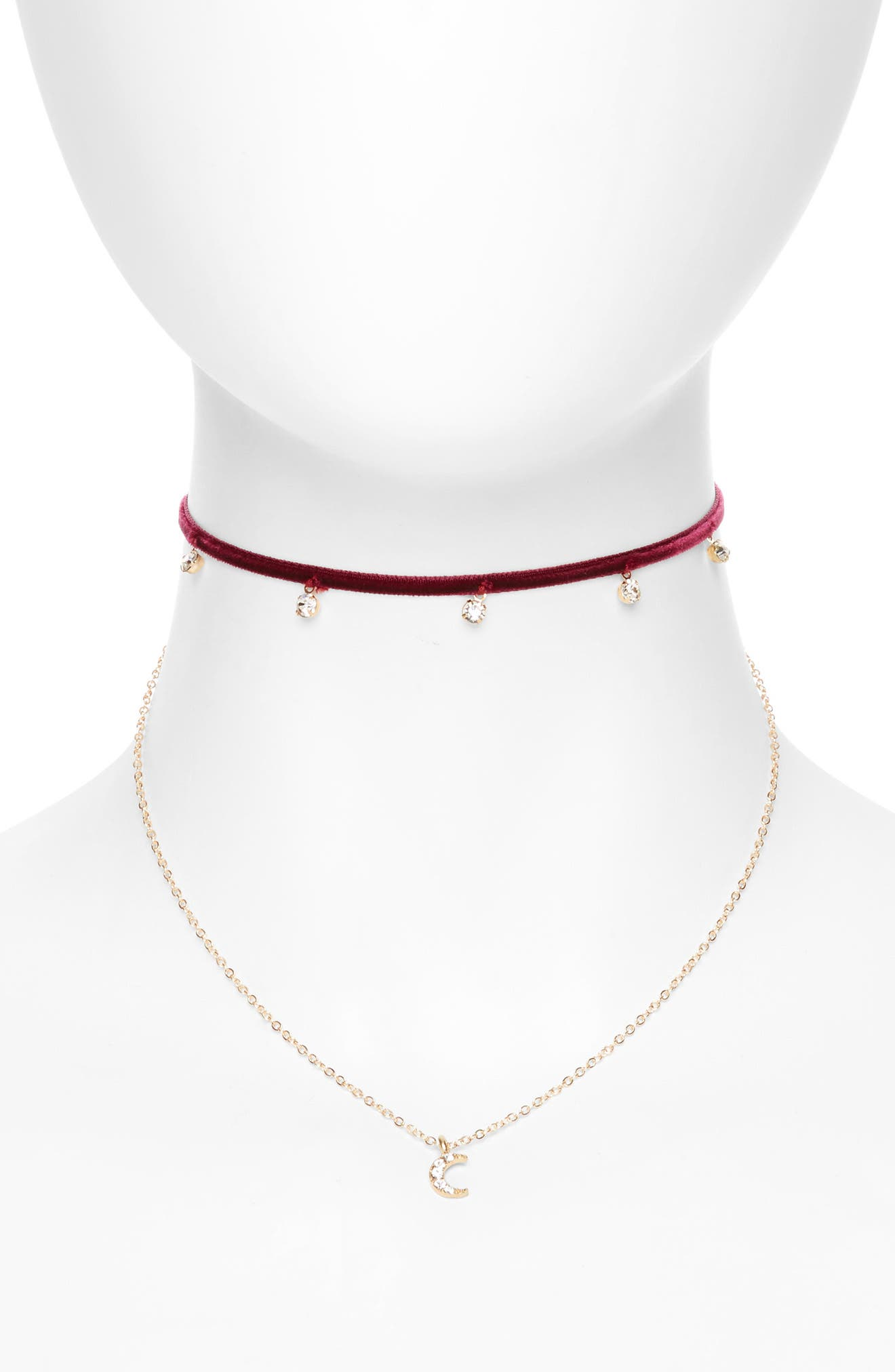 Cara Velvet & Moon Double Choker (Girls)