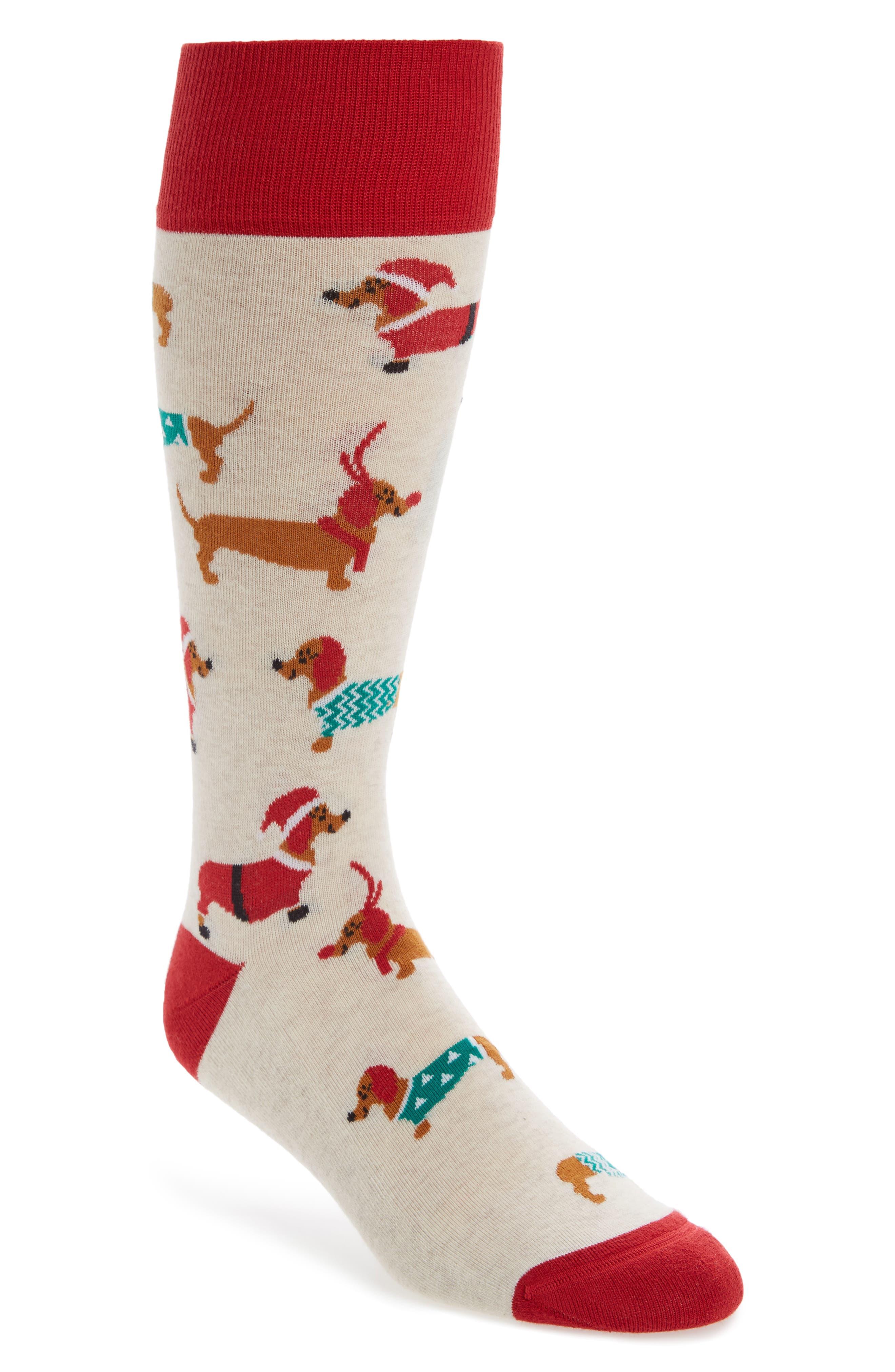 Nordstrom Men's Shop Holiday Dachschund Socks