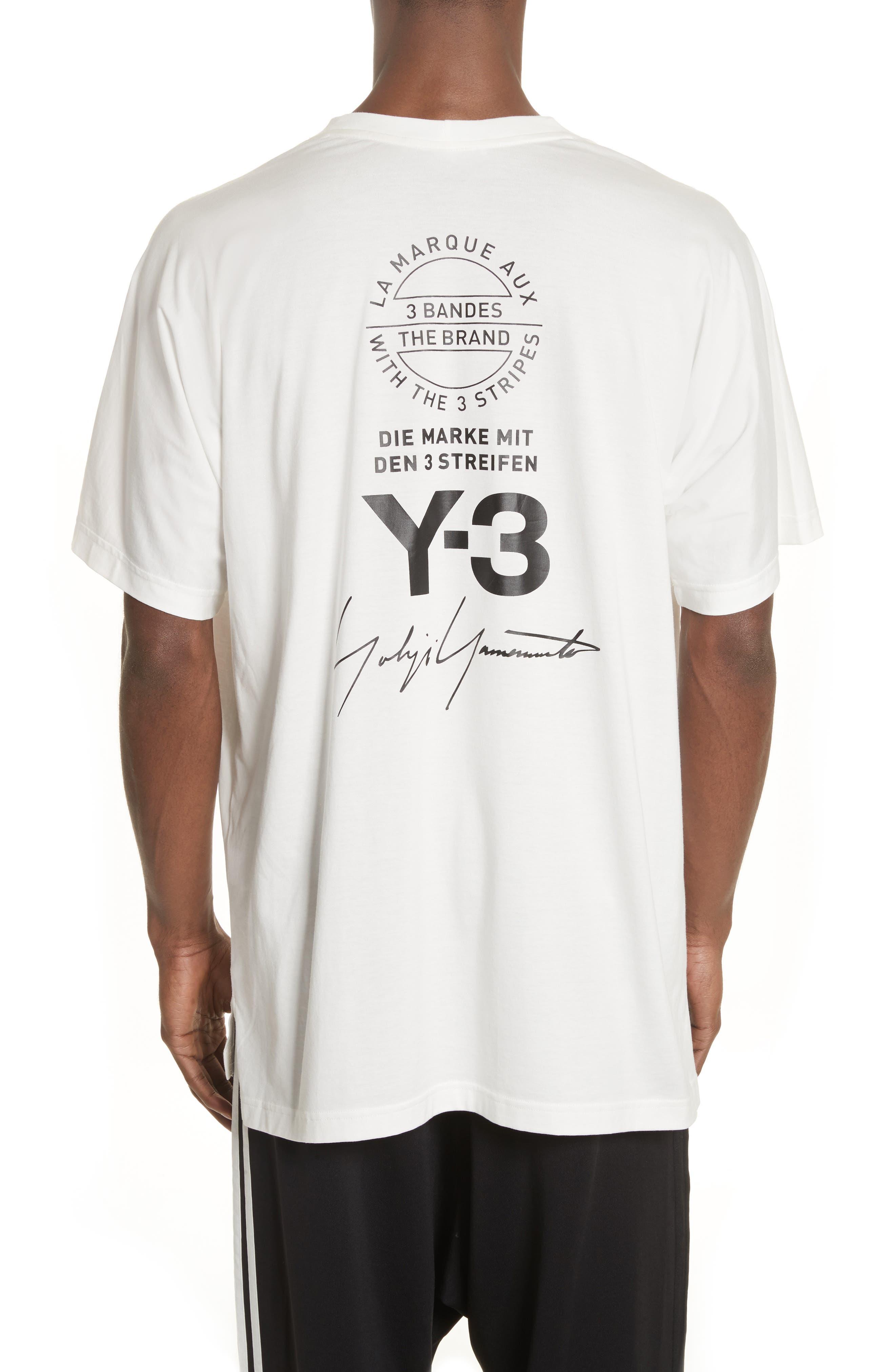 Back Logo Print Oversize T-Shirt,                             Alternate thumbnail 2, color,                             White