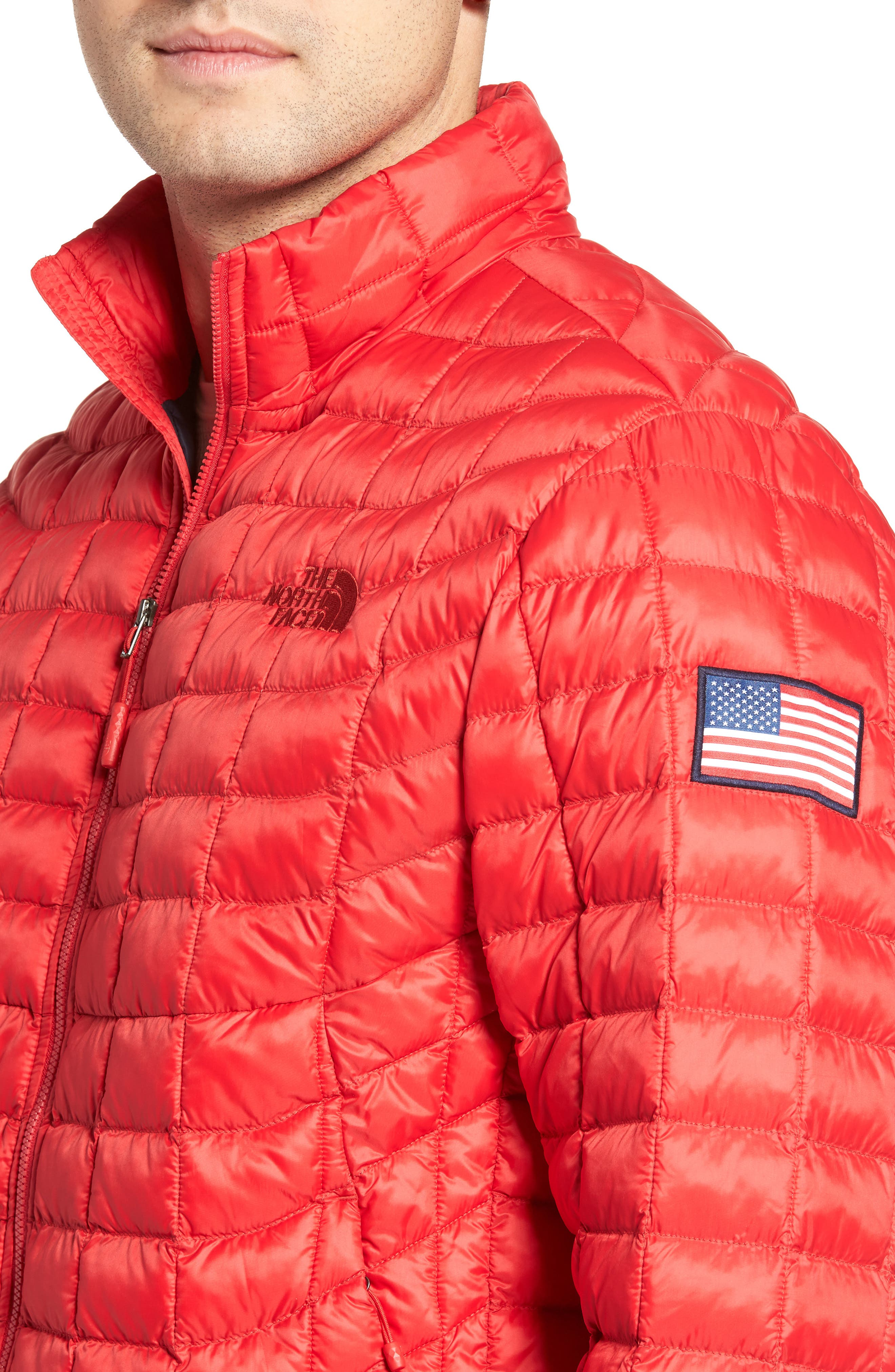 International Collection ThermoBall PrimaLoft<sup>®</sup> Jacket,                             Alternate thumbnail 4, color,                             Red