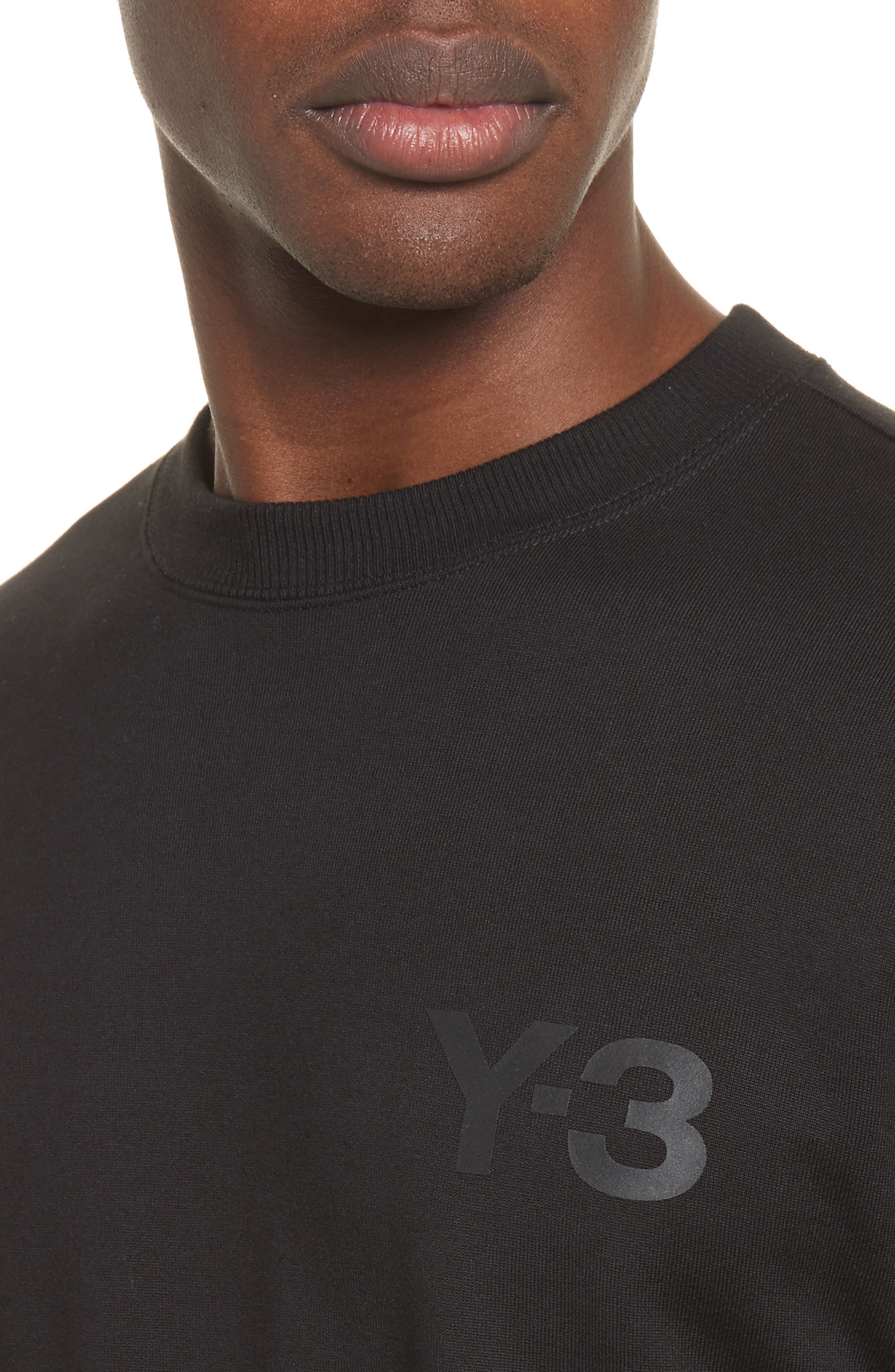 Logo Print Crewneck Sweatshirt,                             Alternate thumbnail 4, color,                             Black