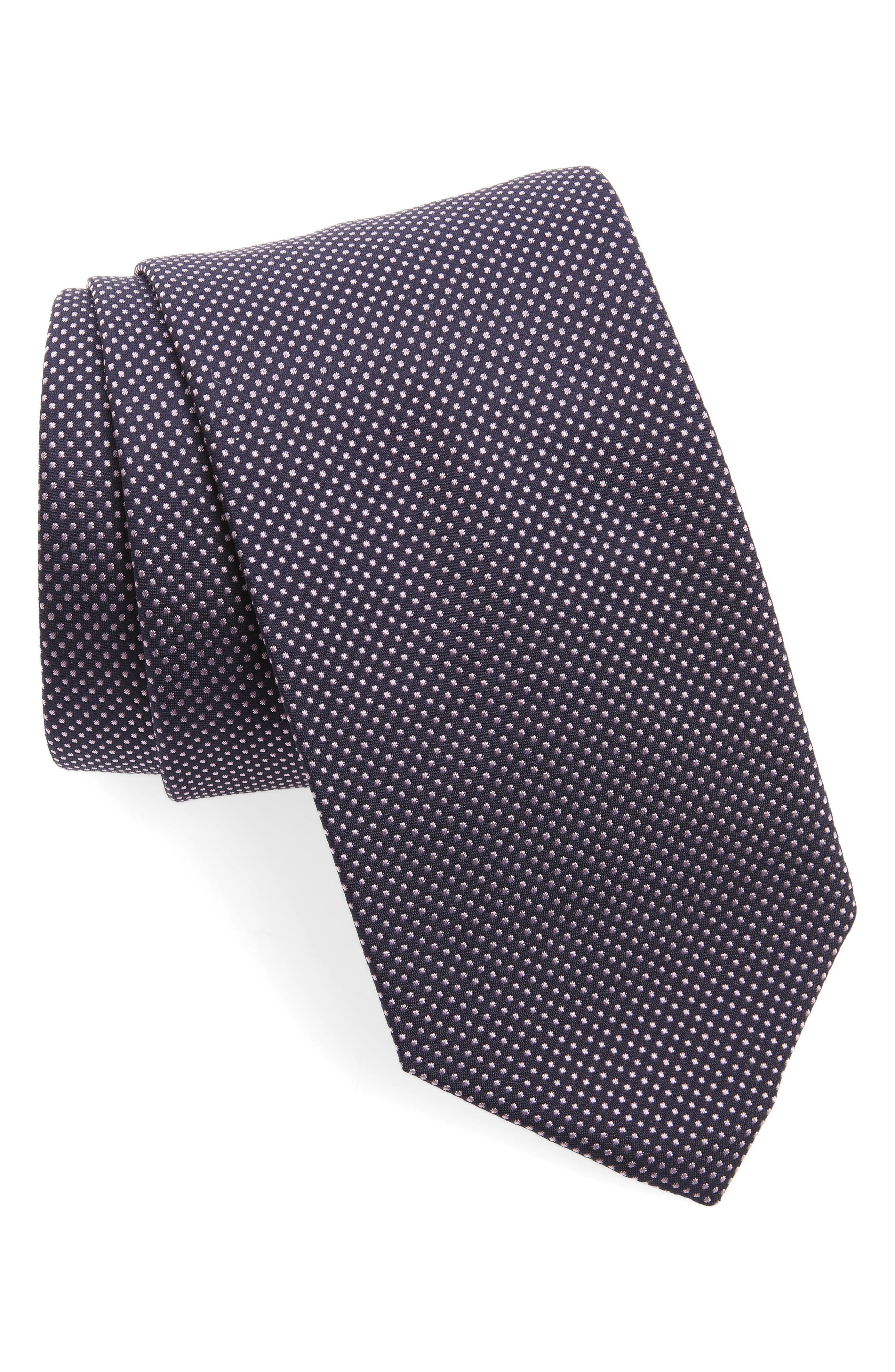 Hugo Boss Dot Silk Tie