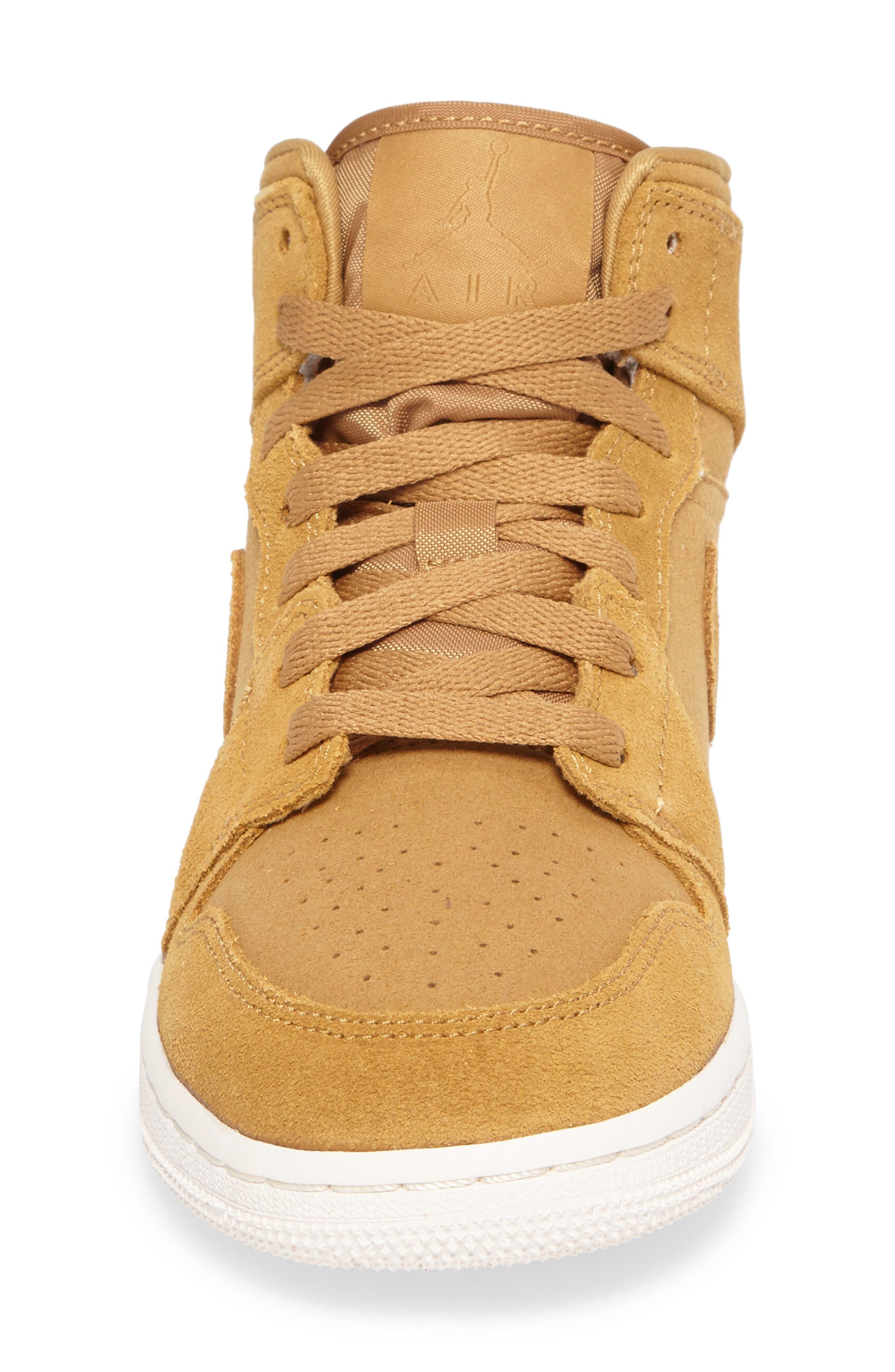 Alternate Image 4  - Nike 'Air Jordan 1 Mid' Sneaker (Big Kid)