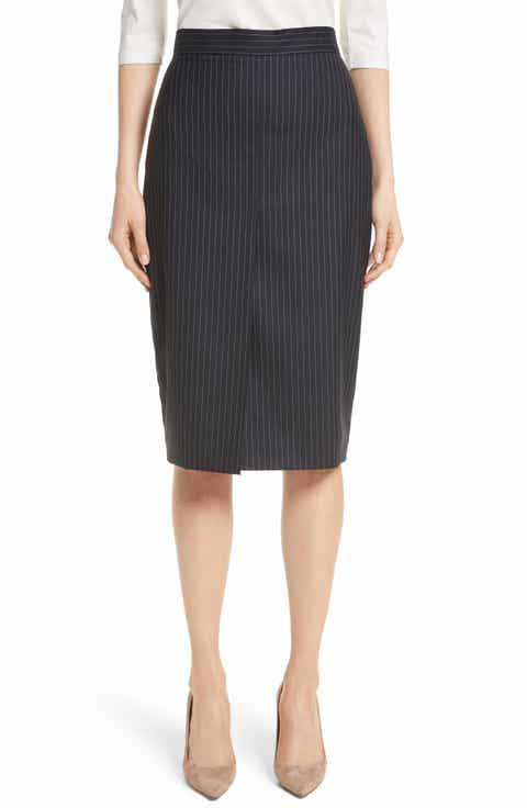 Max Mara Abba Pinstripe Pencil Skirt