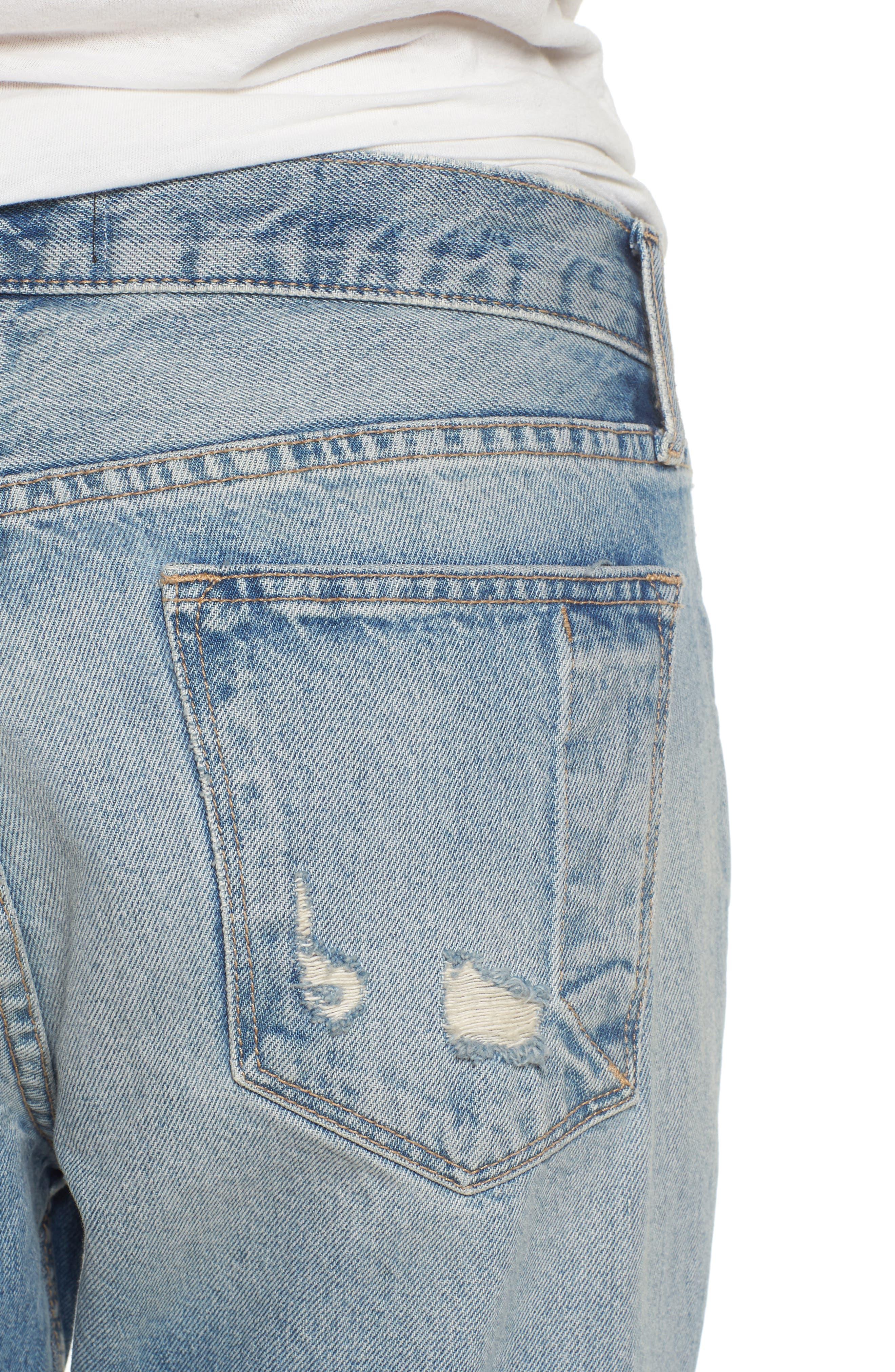 Alternate Image 4  - Current/Elliott The His Boyfriend Jeans (Pinyon Destroy Wash)