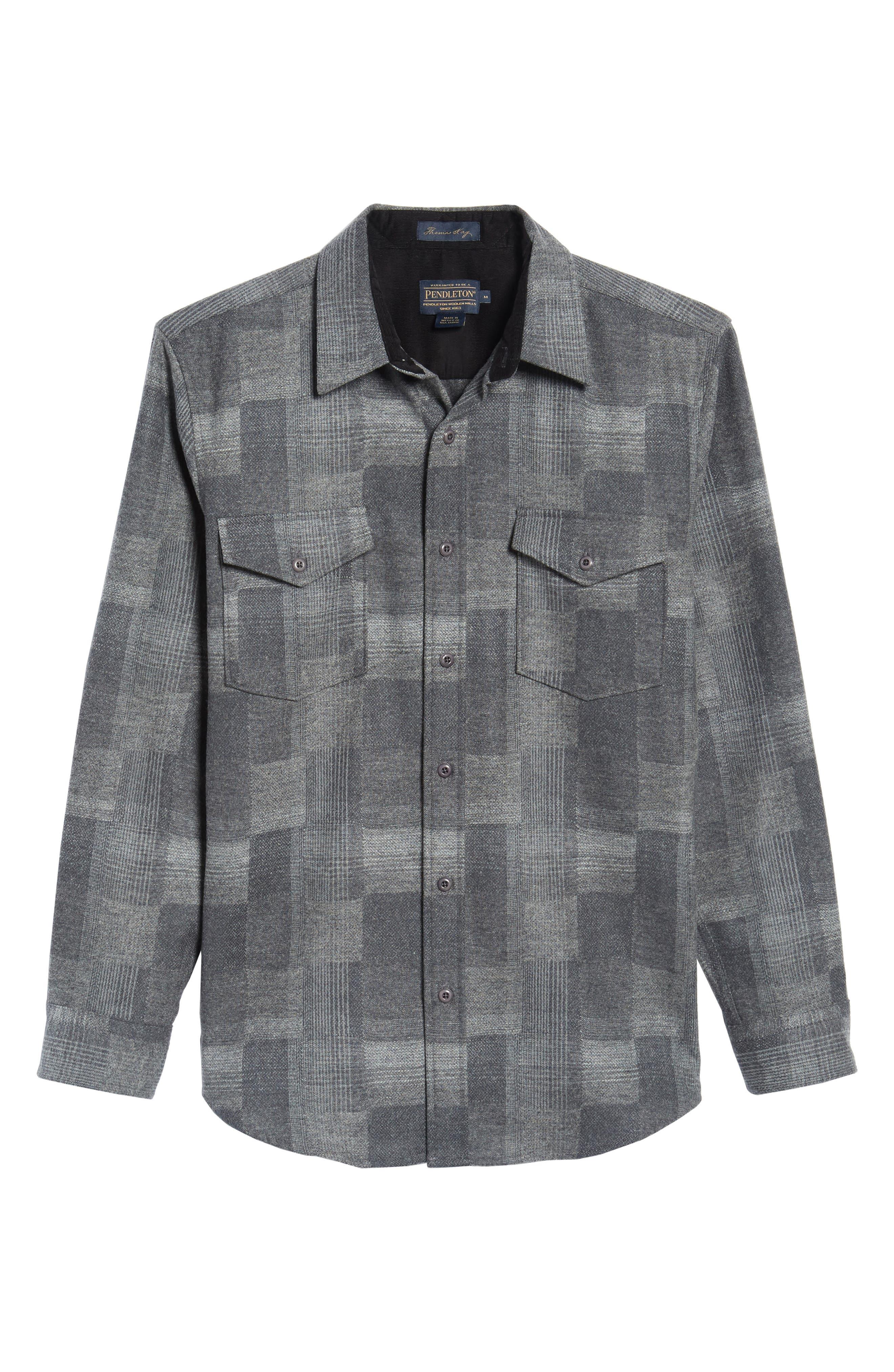 Alternate Image 6  - Pendleton Boro Wool Shirt