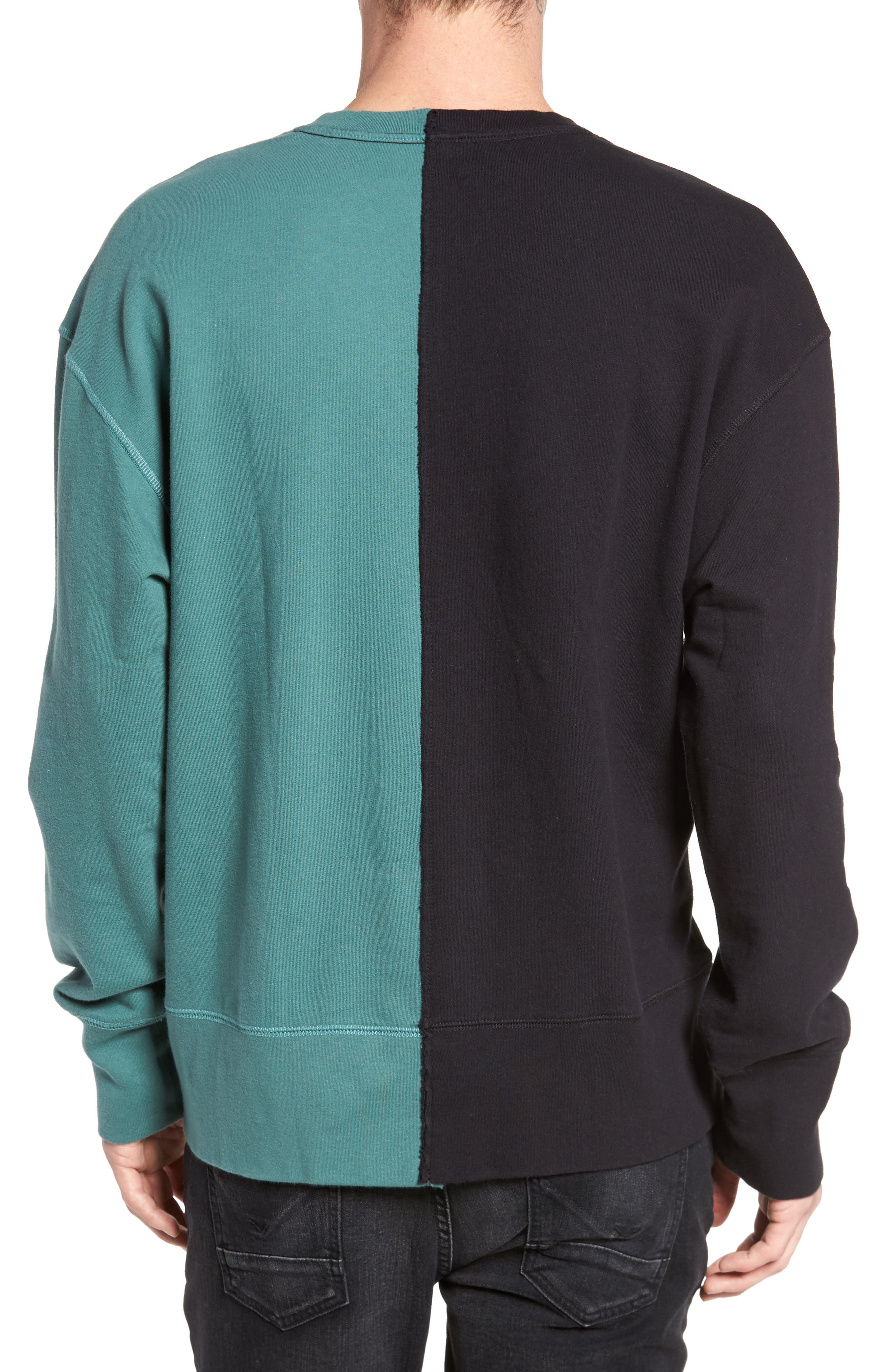 Colorblock T-Shirt,                             Alternate thumbnail 2, color,                             Black Rock / Green Pine