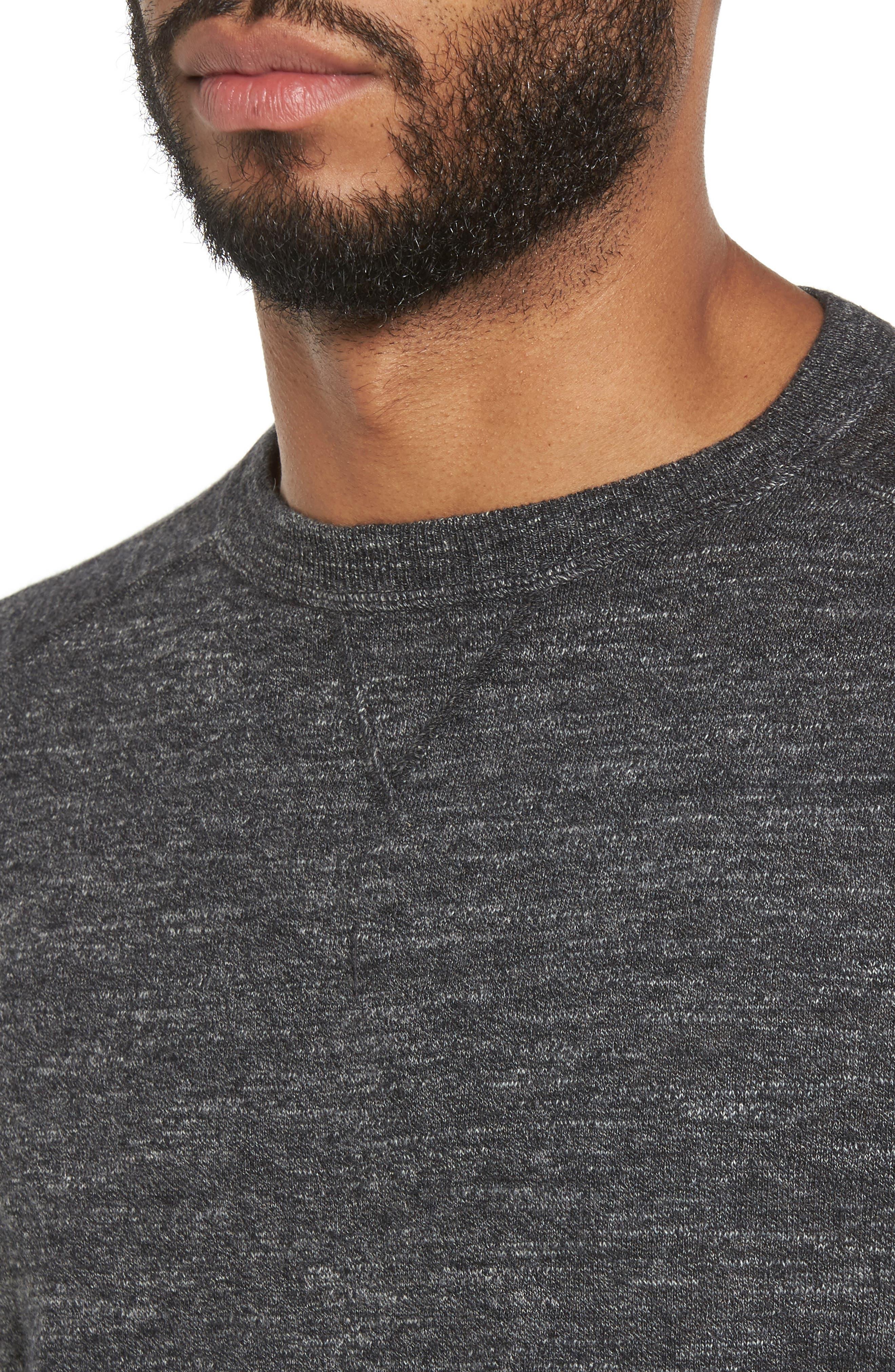 Slub Pullover Sweater,                             Alternate thumbnail 4, color,                             Grey