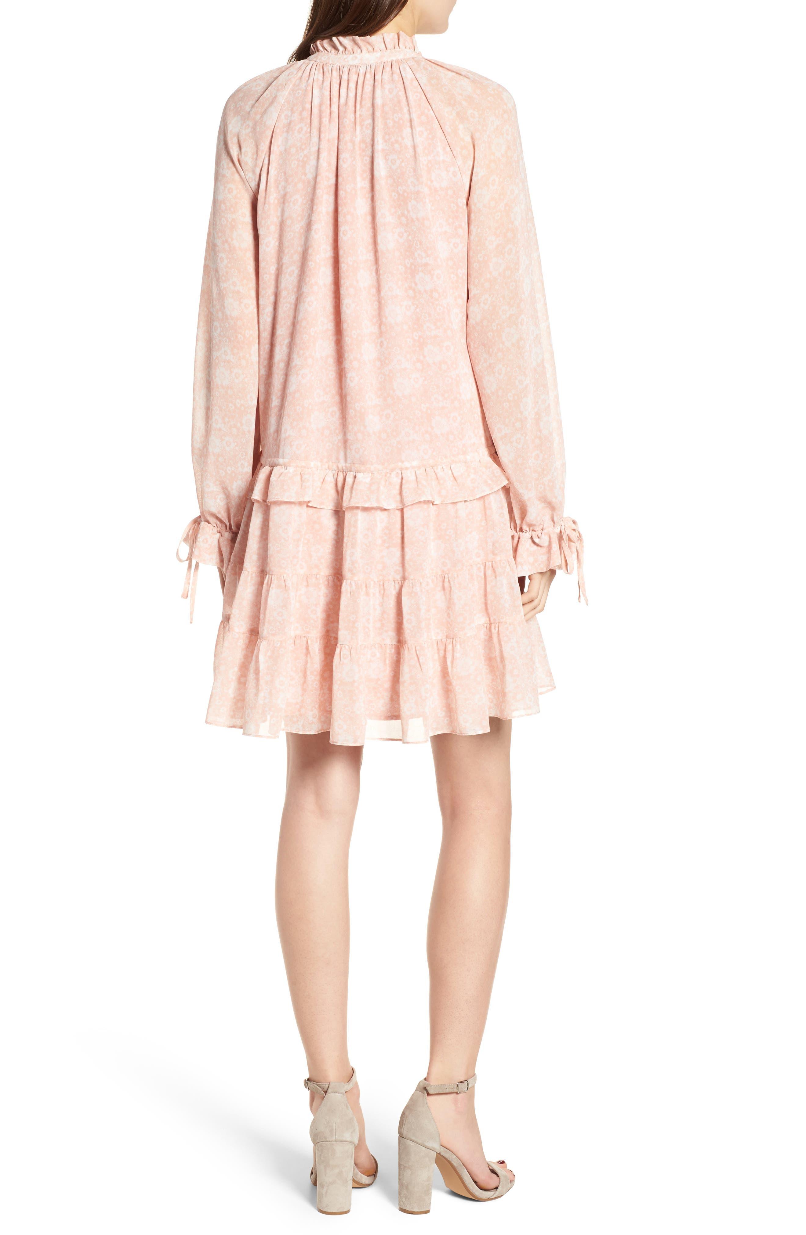 Dylan Drop Waist Dress,                             Alternate thumbnail 2, color,                             Light Pink Multi