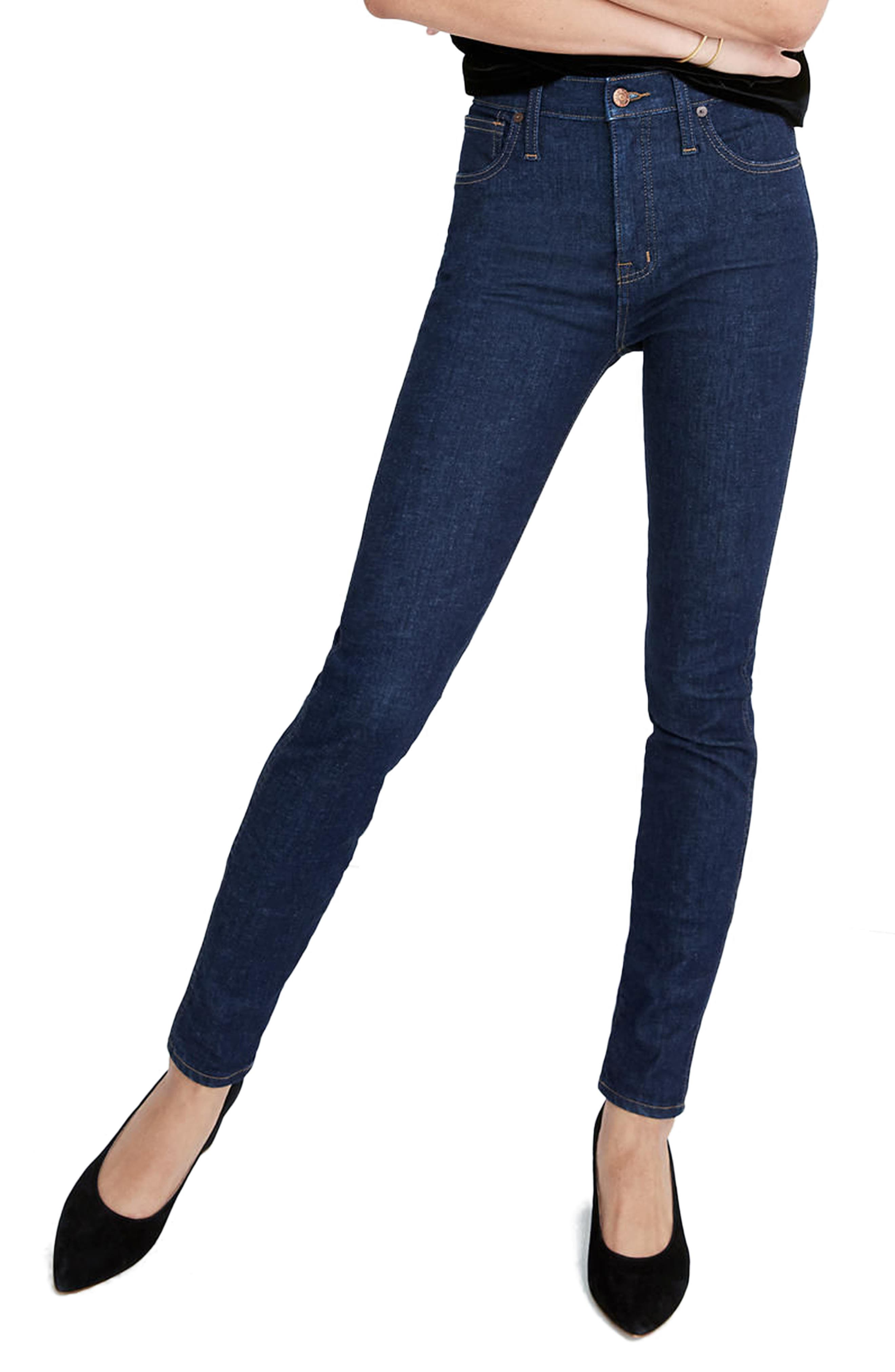 10-Inch High Waist Skinny Jeans,                             Main thumbnail 1, color,                             Lucille