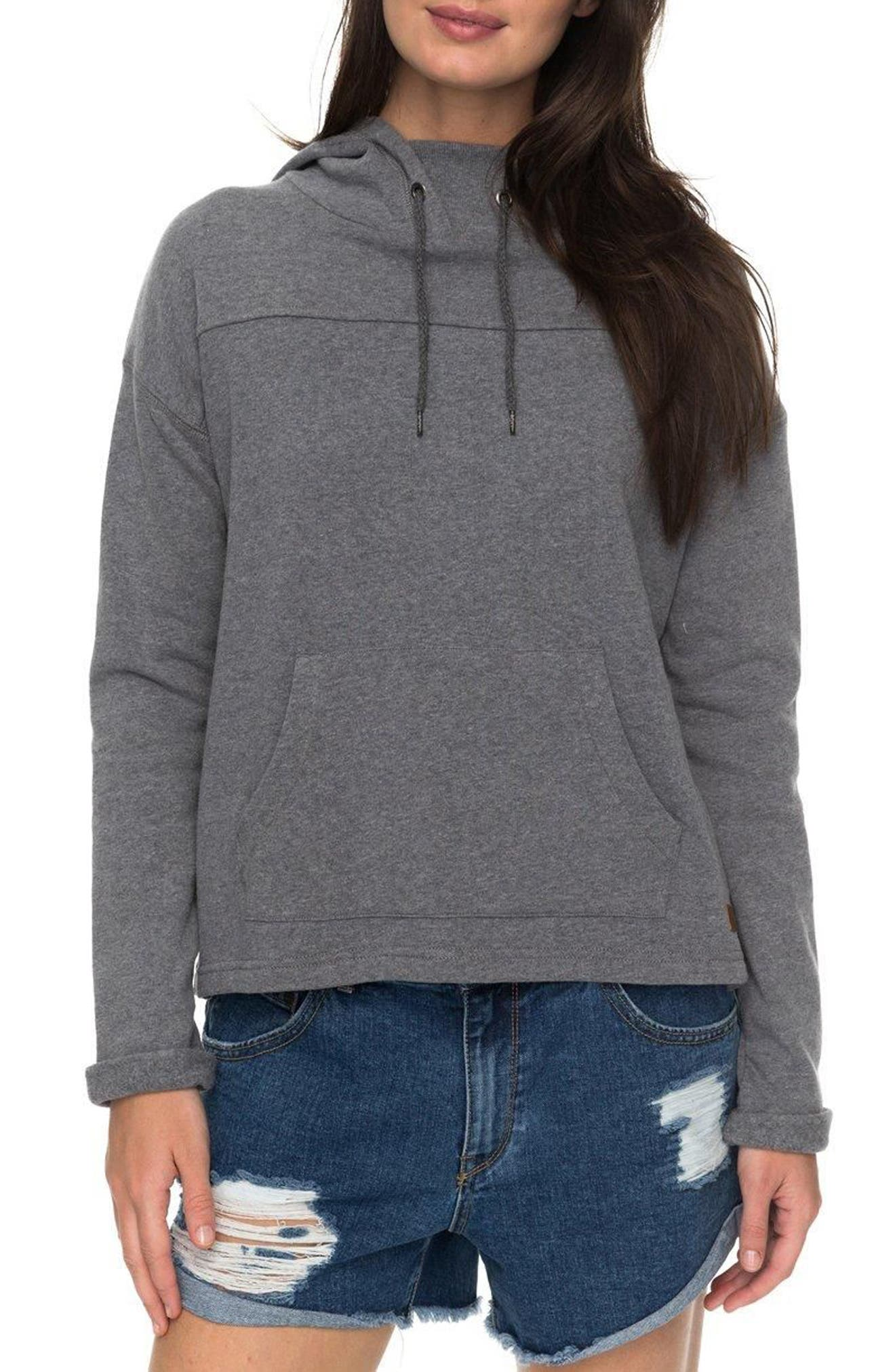 Coasting Ahead Hoodie,                             Main thumbnail 1, color,                             Charcoal Heather