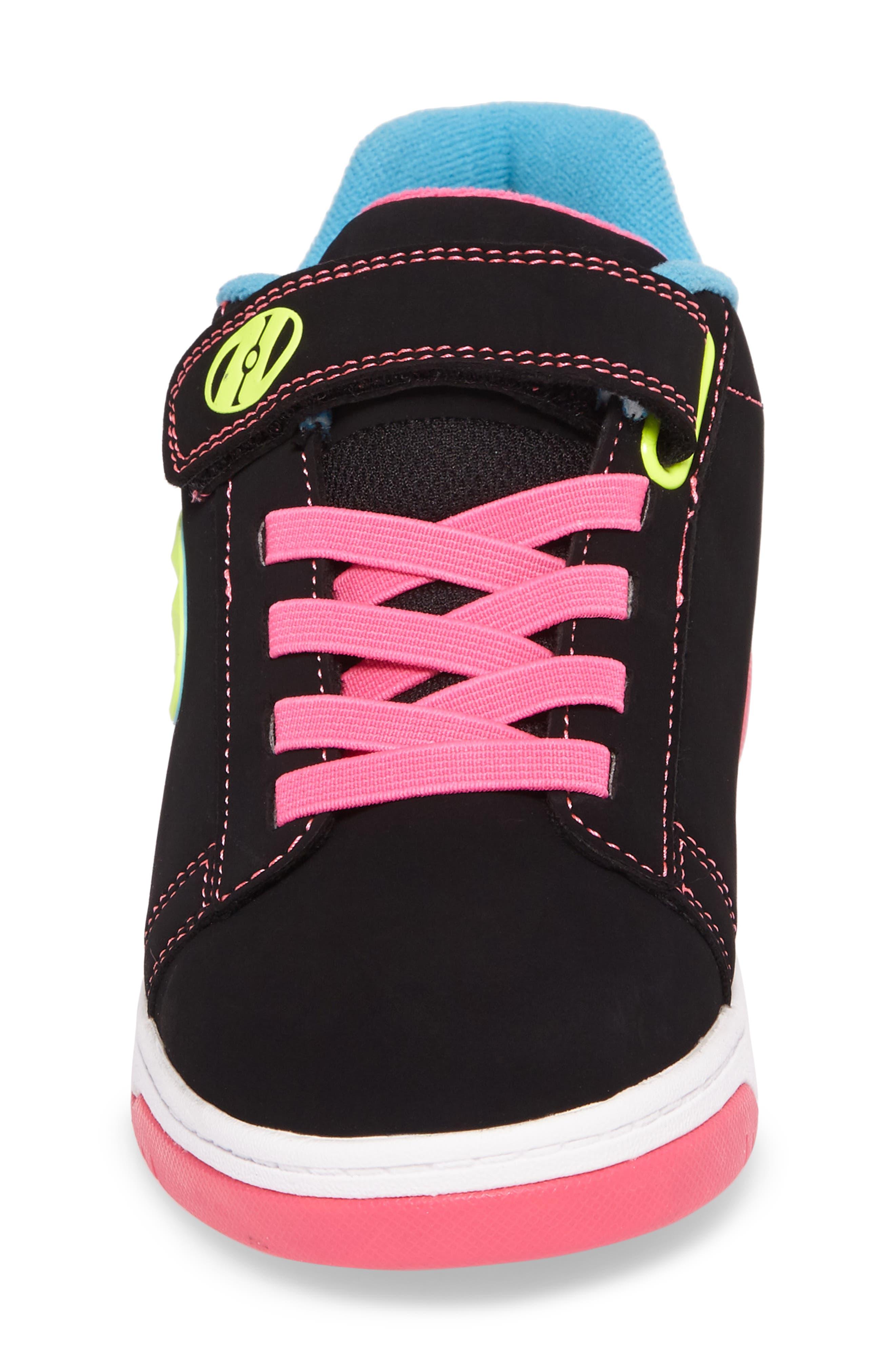Dual Up Wheeled Skate Sneaker,                             Alternate thumbnail 4, color,                             Black/ Neon Multi