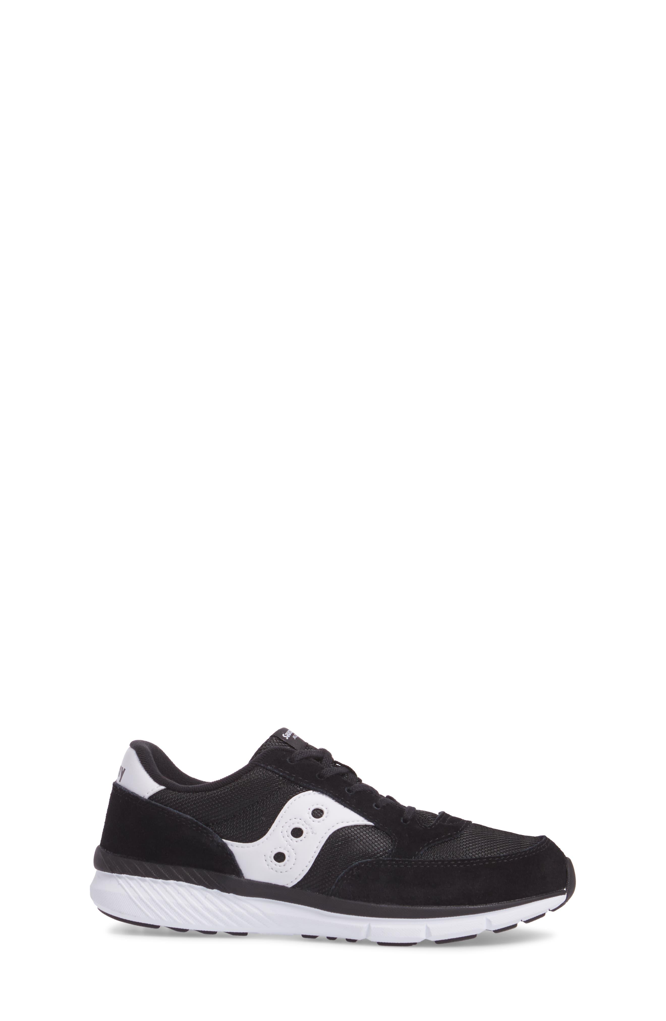 Jazz Lite Athletic Shoe,                             Alternate thumbnail 3, color,                             Black/ Black