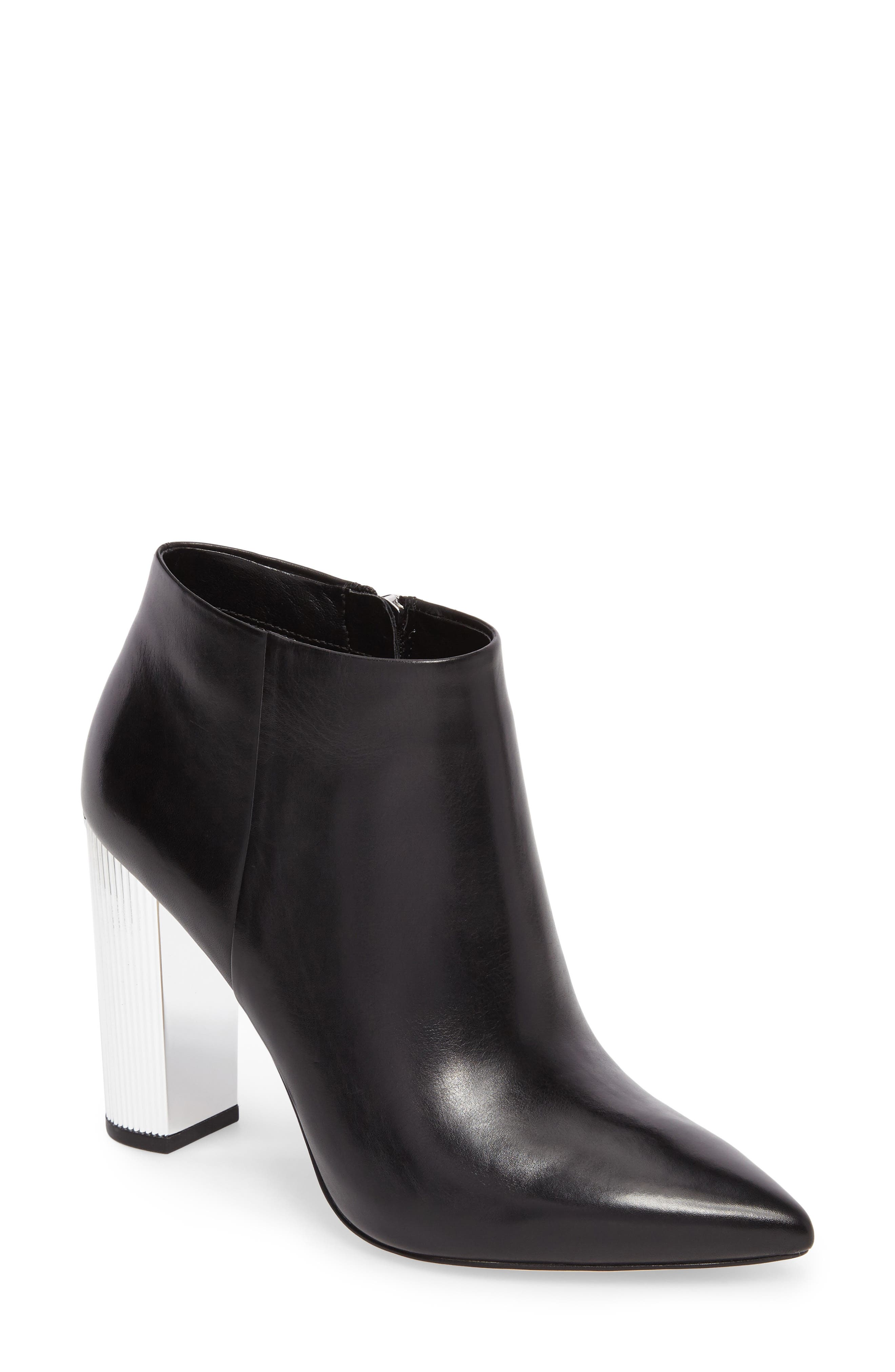 Paloma Bootie,                             Main thumbnail 1, color,                             Black Calf Leather