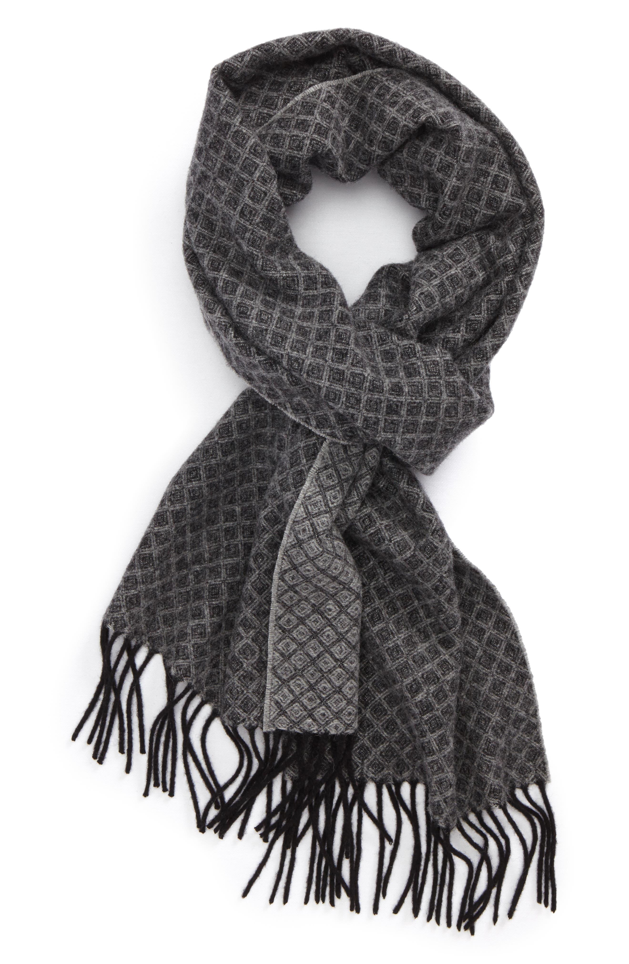 Nordstrom Men's Shop Diamond Trellis Wool Scarf