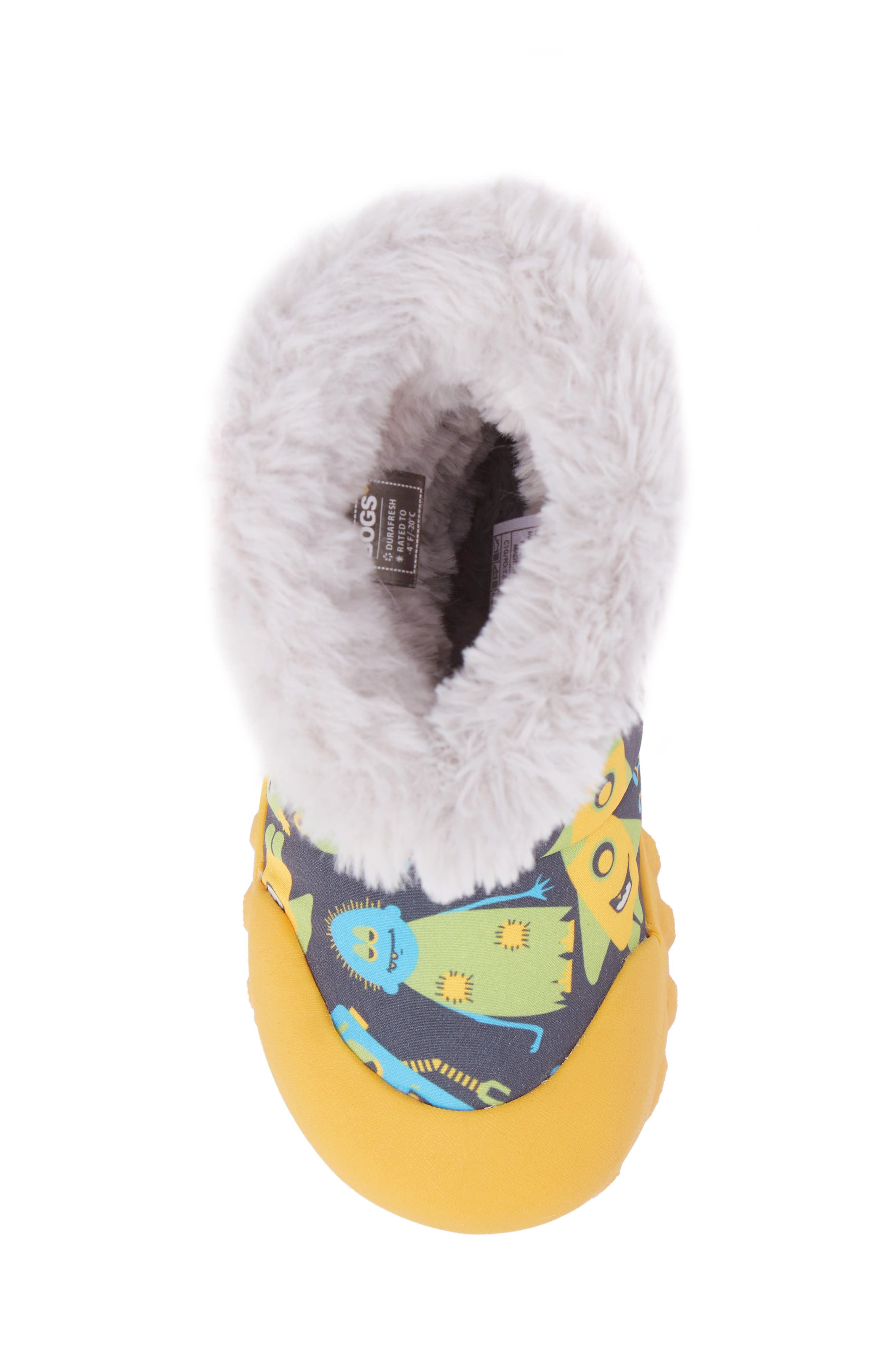 B-MOC Monsters Waterproof Insulated Faux Fur Winter Boot,                             Alternate thumbnail 5, color,                             Dark Gray Multi