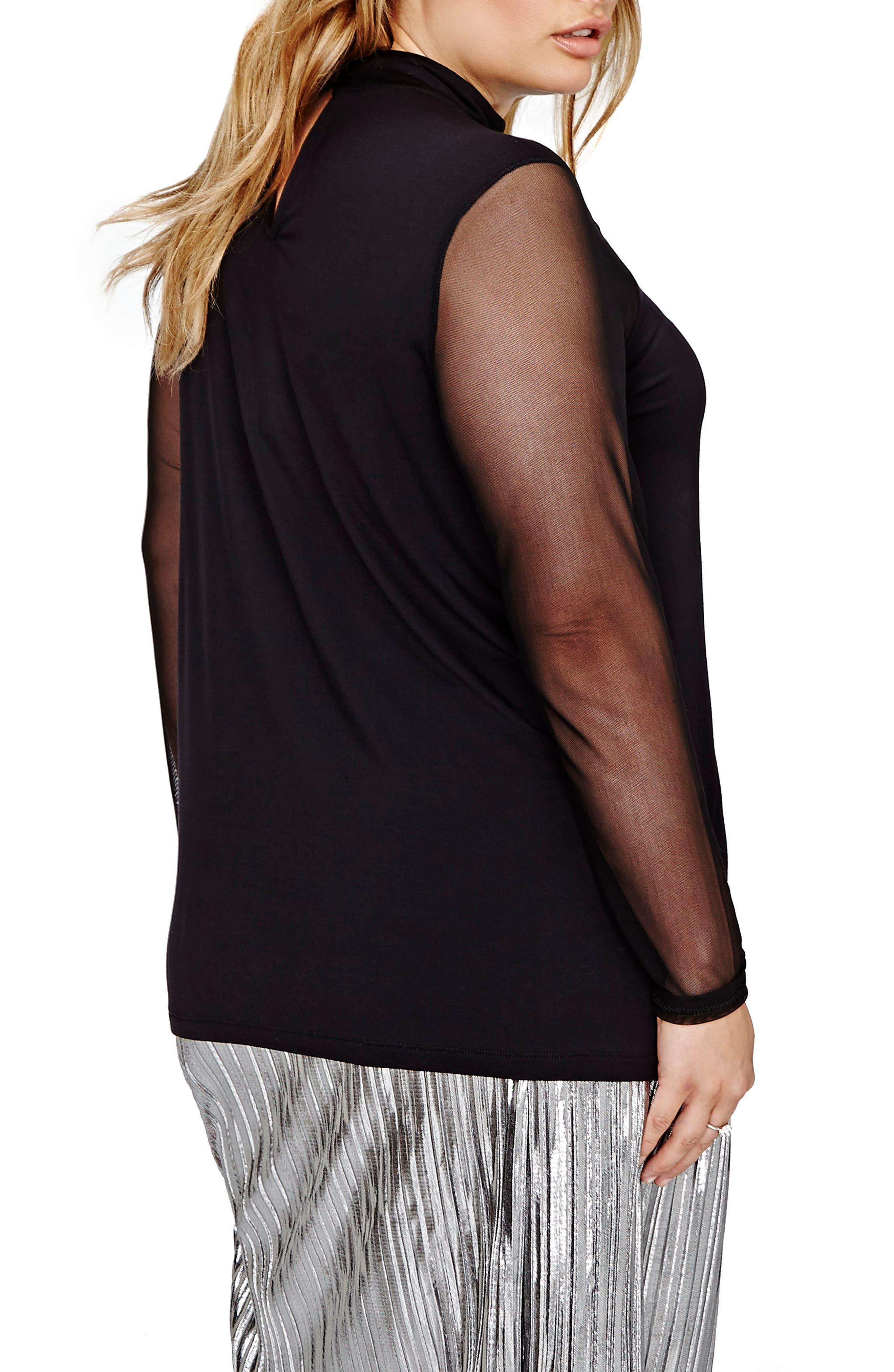 Alternate Image 2  - ADDITION ELLE LOVE AND LEGEND Mesh Knit Top (Plus Size)