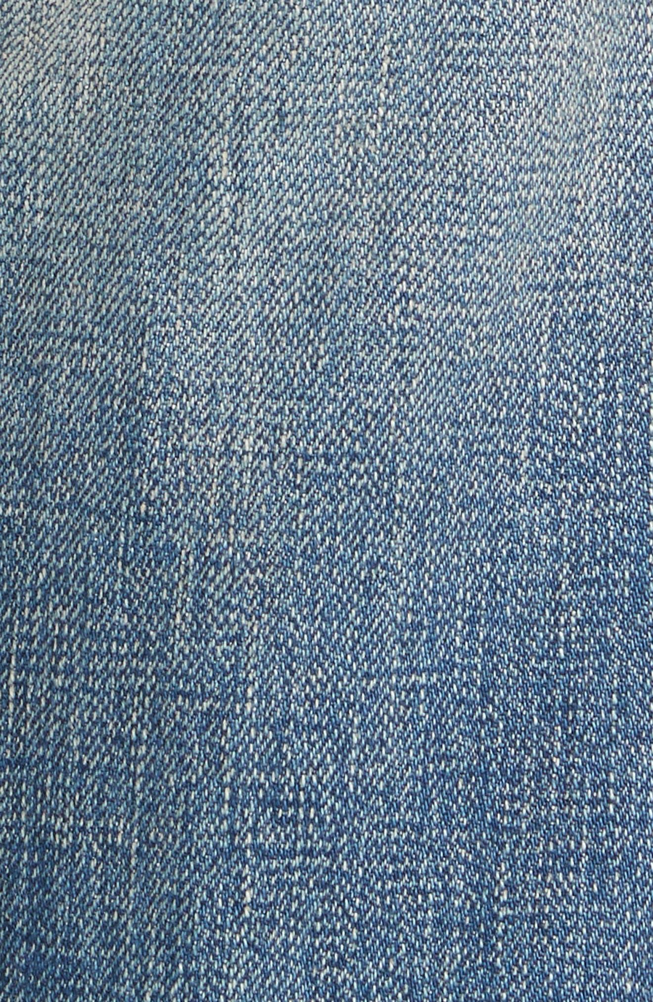 Alternate Image 5  - Tu es mon TRESOR Velvet Side Bow Jeans