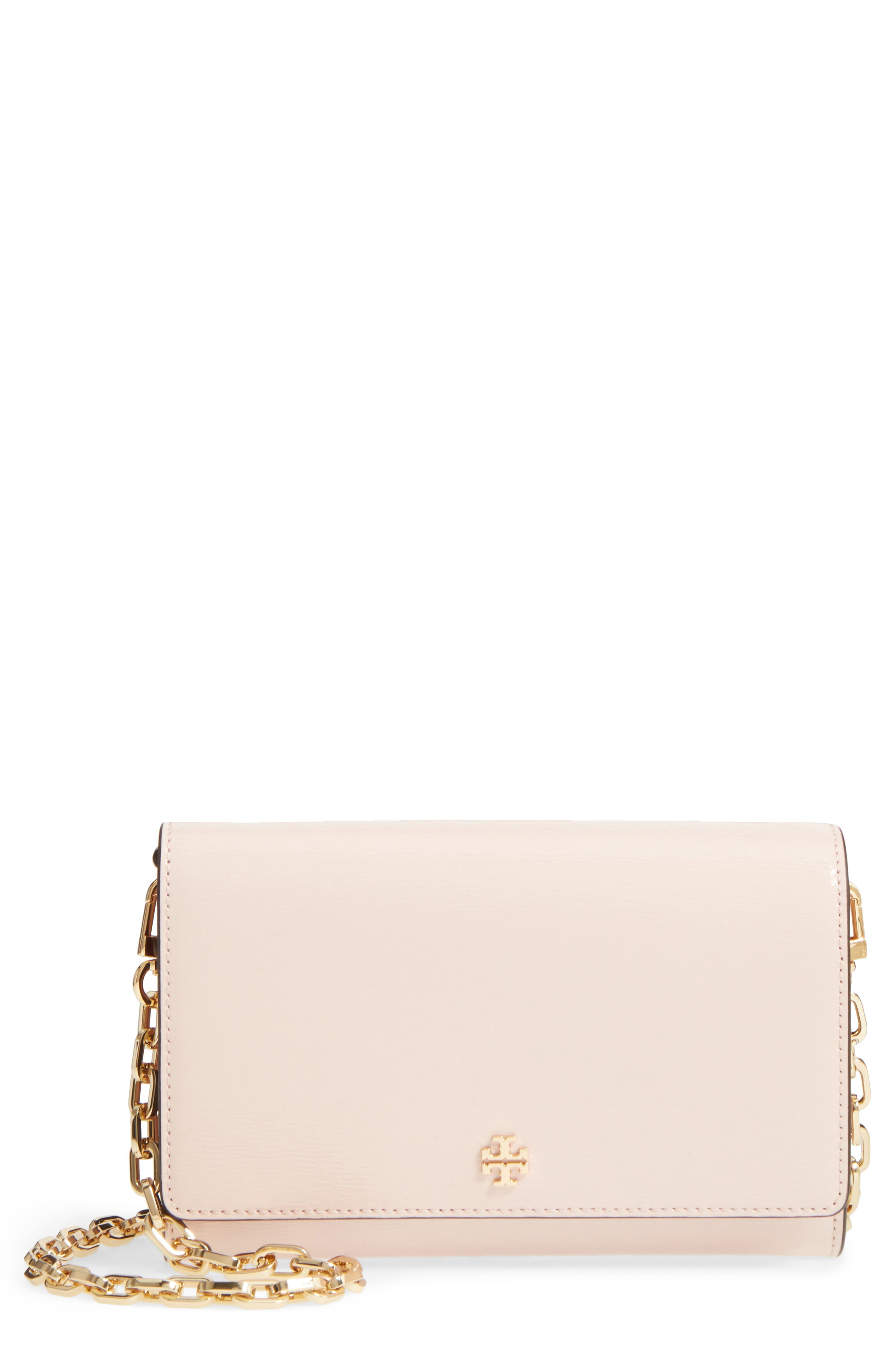 Robinson Patent Leather Wallet on a Chain,                         Main,                         color, Shell Pink