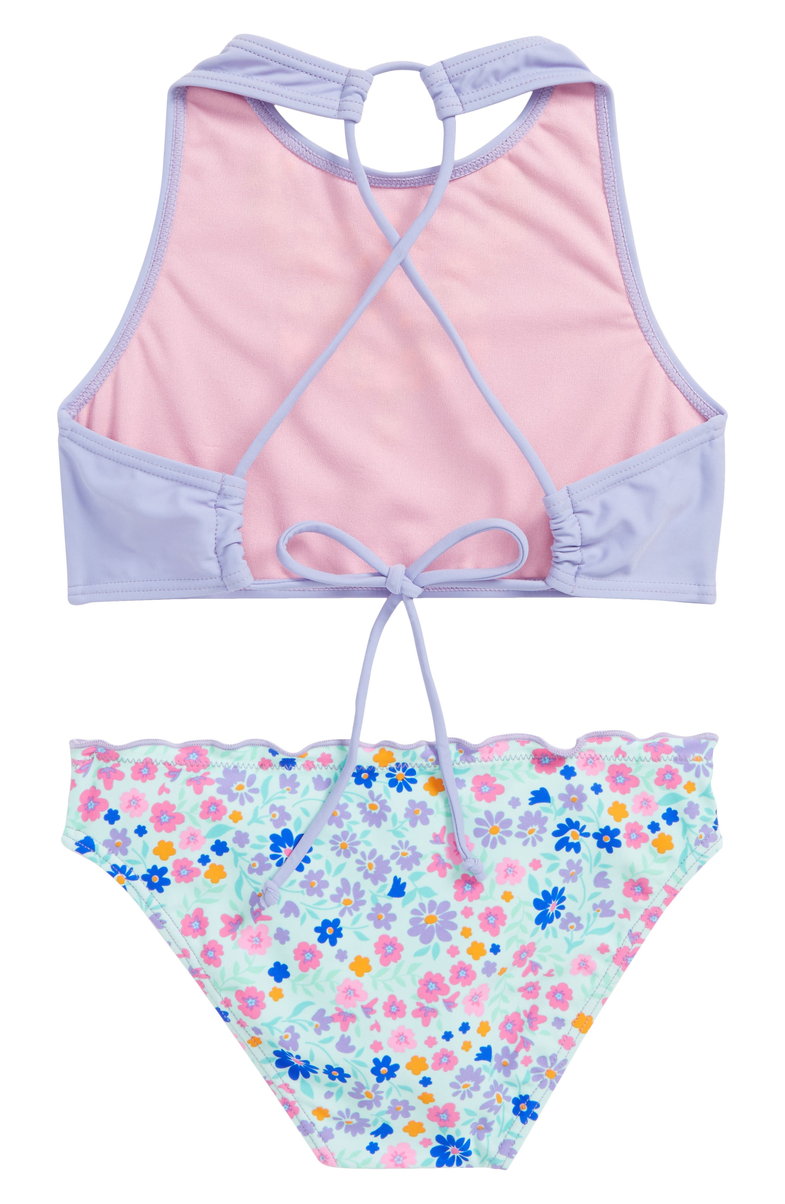 In Bloom Two-Piece Swimsuit,                             Alternate thumbnail 2, color,                             Deep Periwinkle Combo