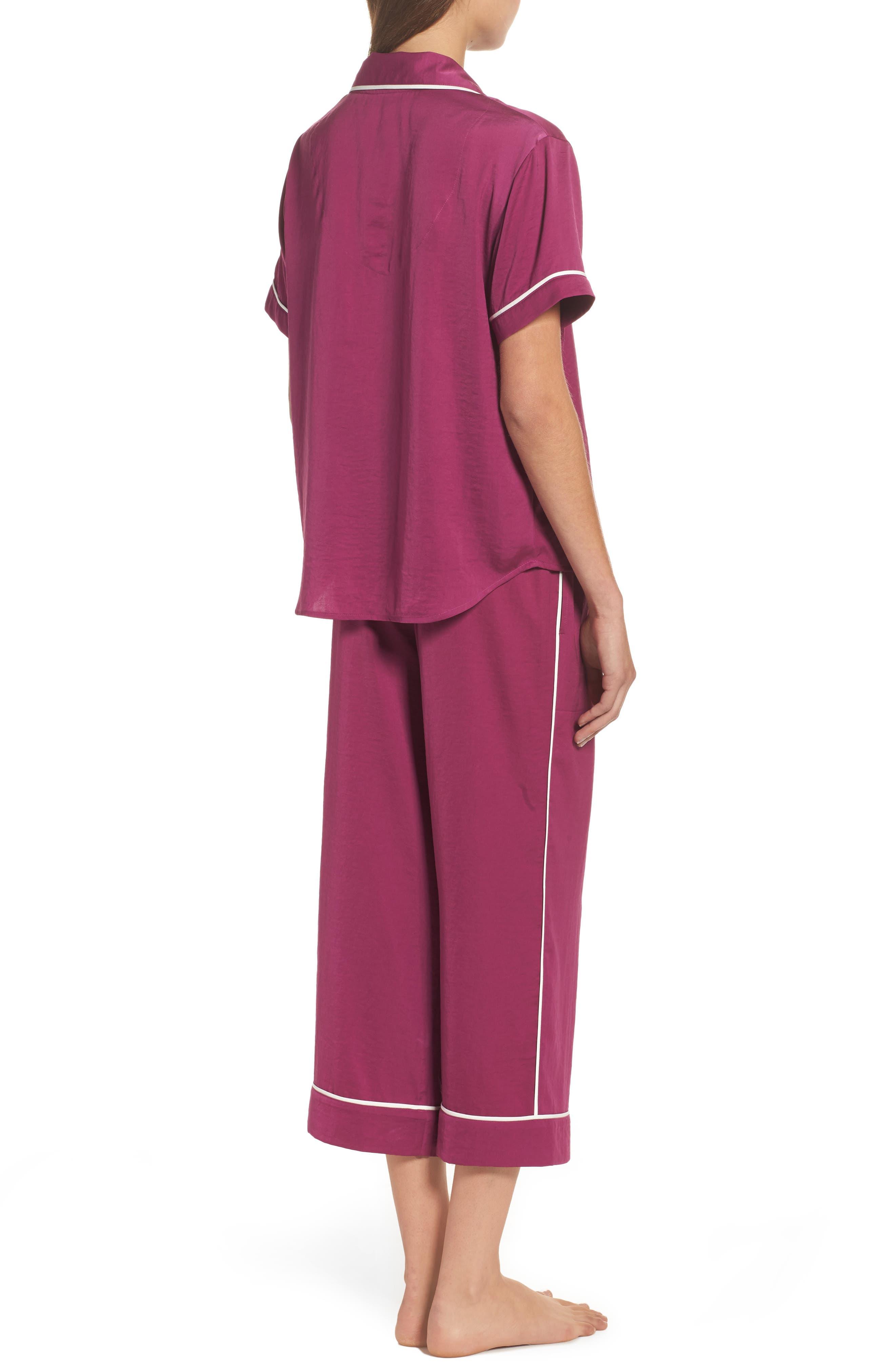Alternate Image 2  - Room Service Satin Pajamas