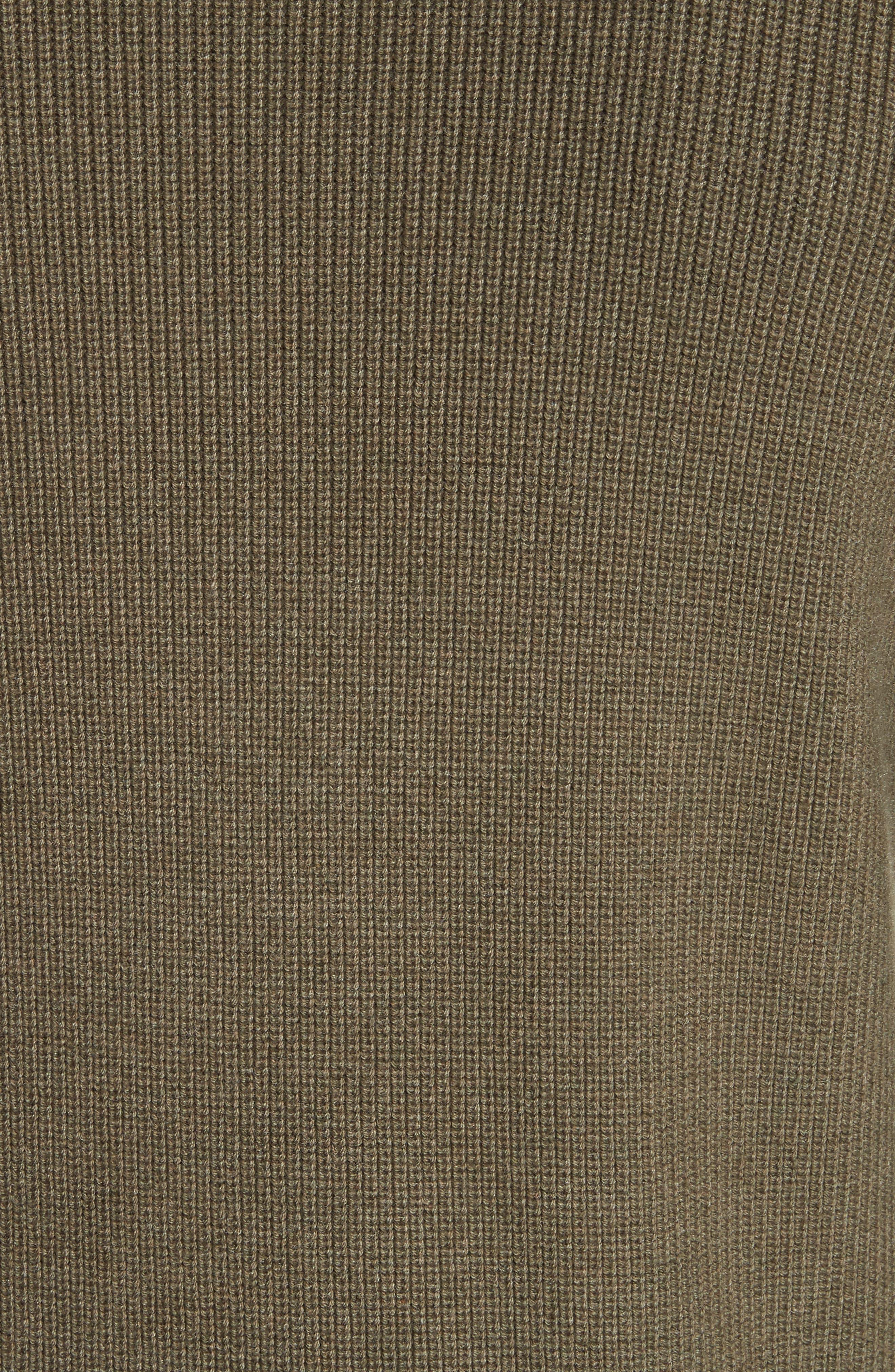 Crewneck Cotton Blend Sweater,                             Alternate thumbnail 5, color,                             Green