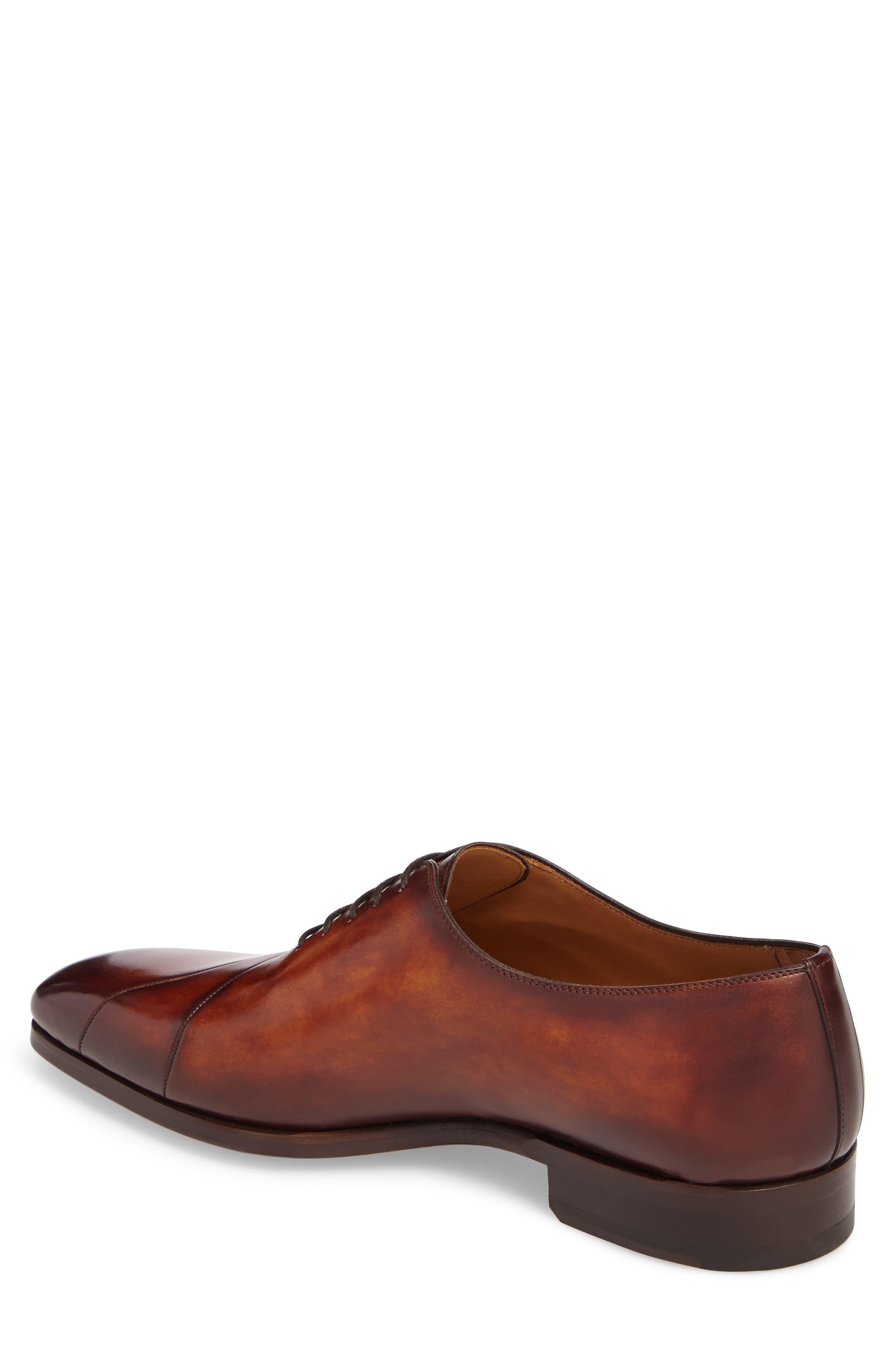Marquez Stitched Oxford,                             Alternate thumbnail 2, color,                             Cognac Leather