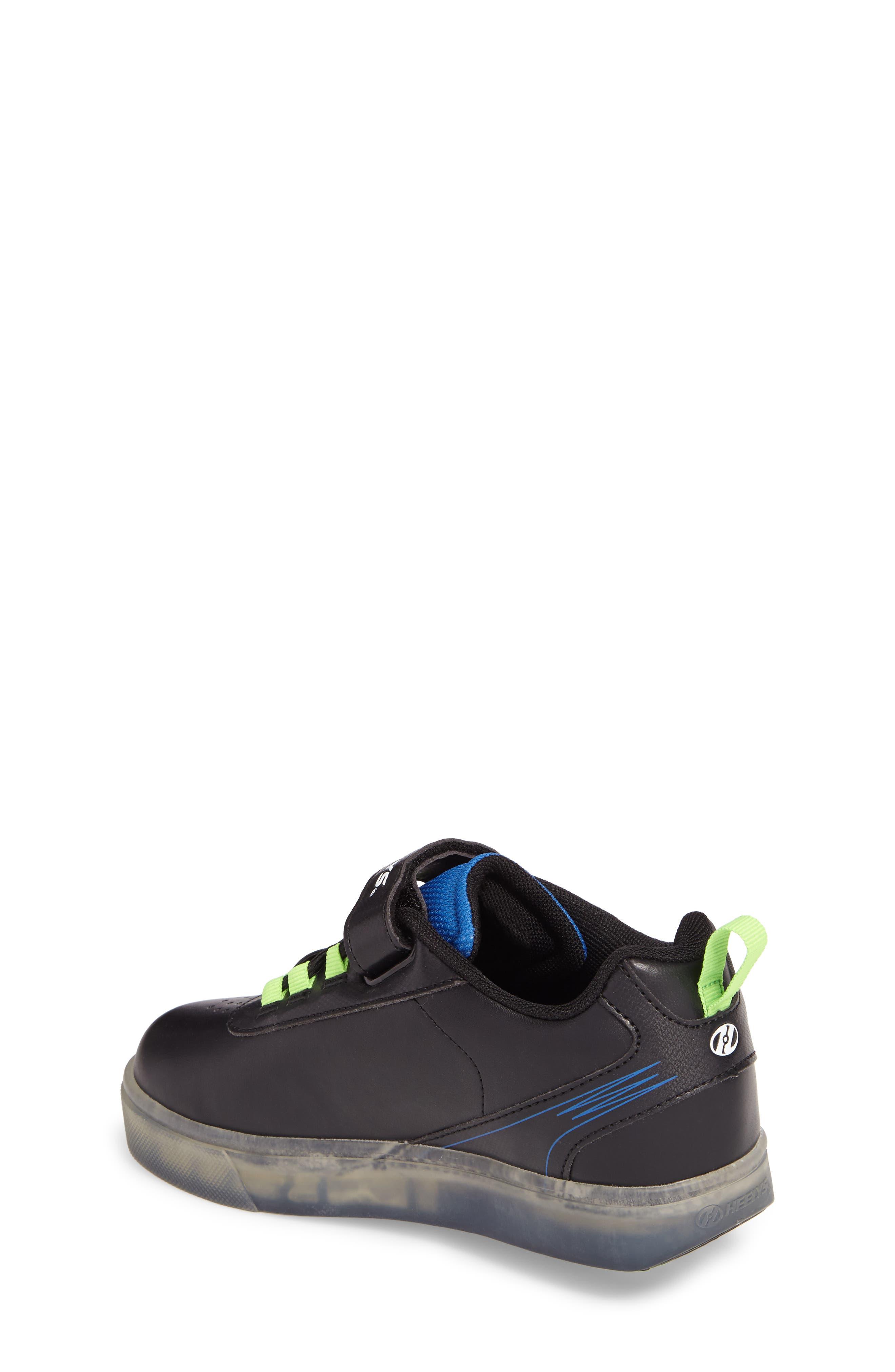 Pow X2 Light-Up Wheeled Skate Sneaker,                             Alternate thumbnail 2, color,                             Black/ Blue/ Green