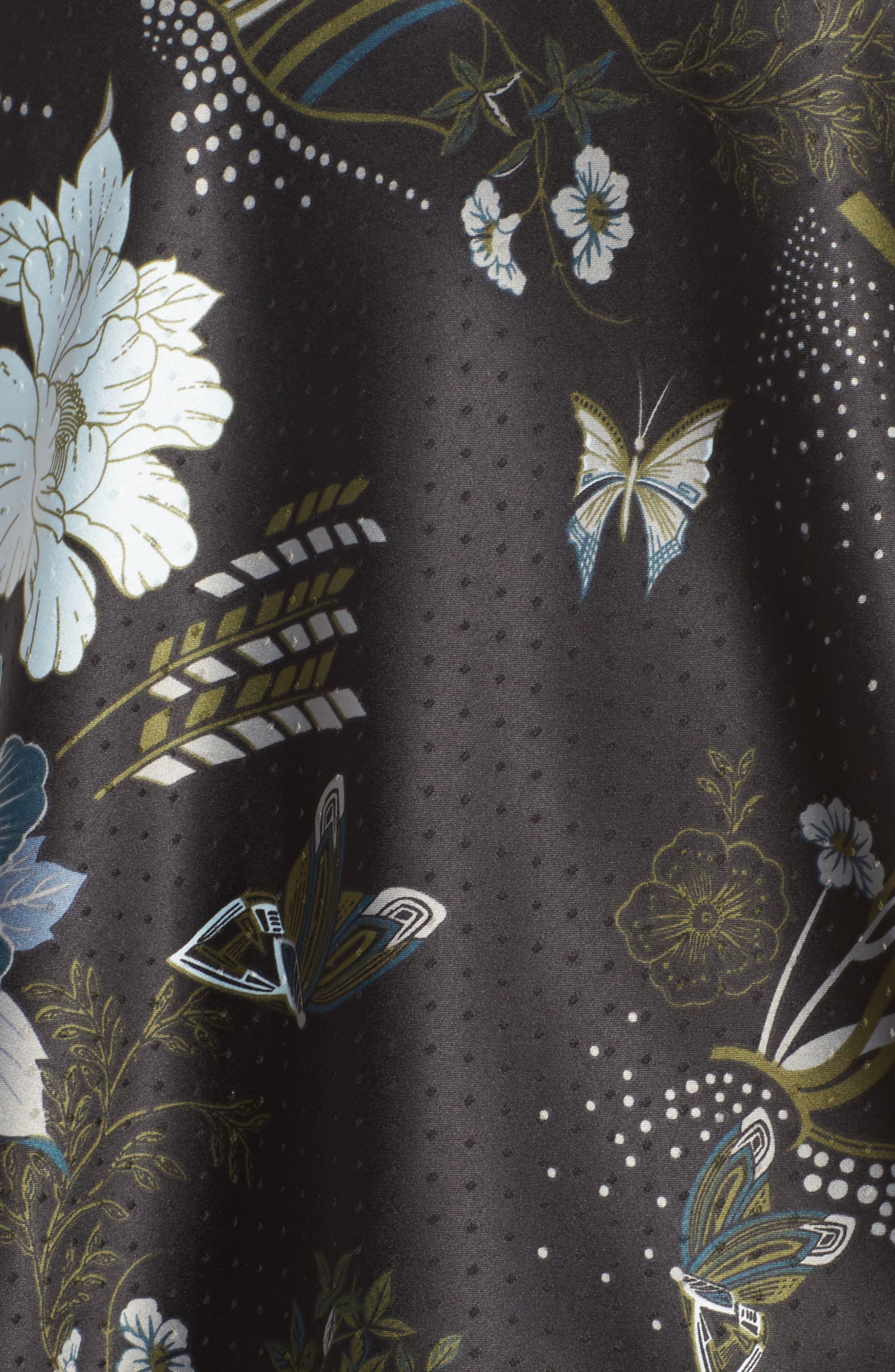 Late Nights Satin Camisole,                             Alternate thumbnail 7, color,                             Black Decorative Scenery