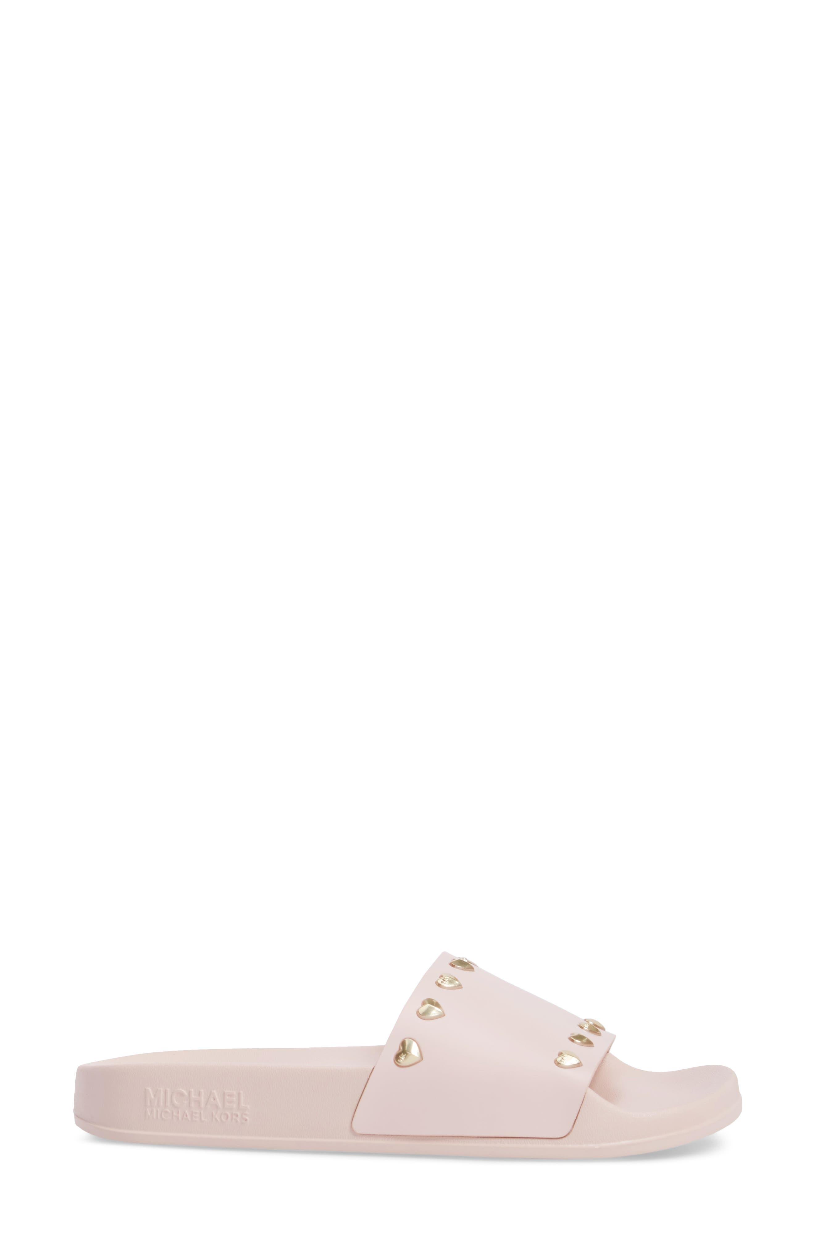 Zooey Slide Sandal,                             Alternate thumbnail 3, color,                             Soft Pink