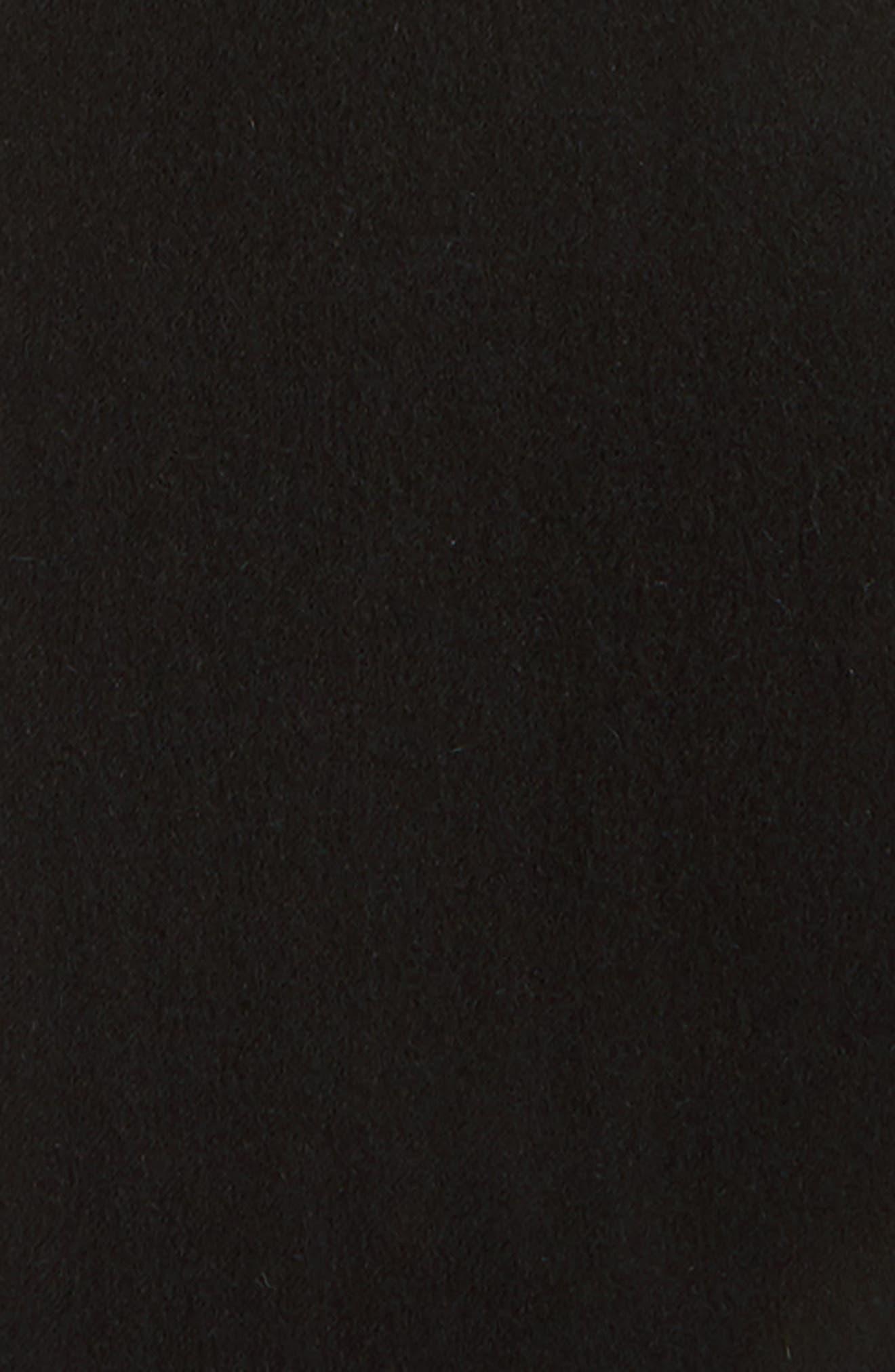 Park Alpaca Scarf,                             Alternate thumbnail 4, color,                             Black