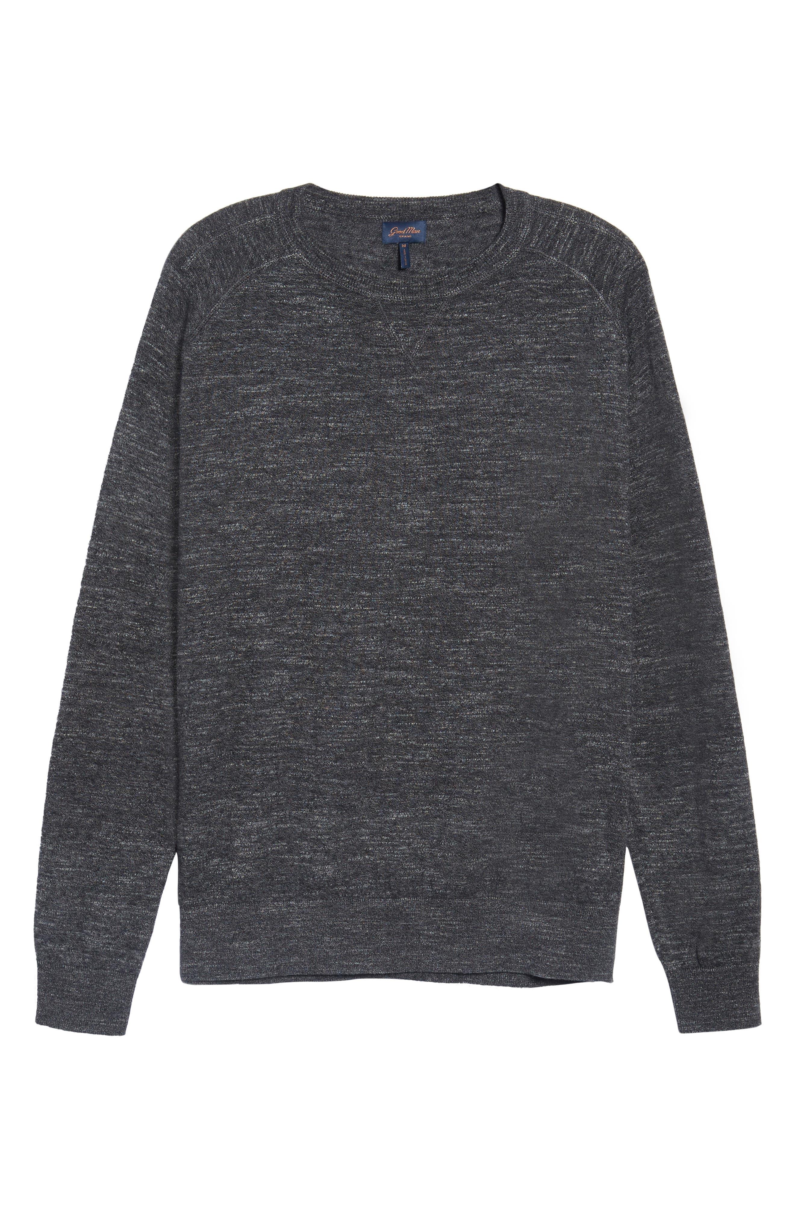 Slub Pullover Sweater,                             Alternate thumbnail 6, color,                             Grey