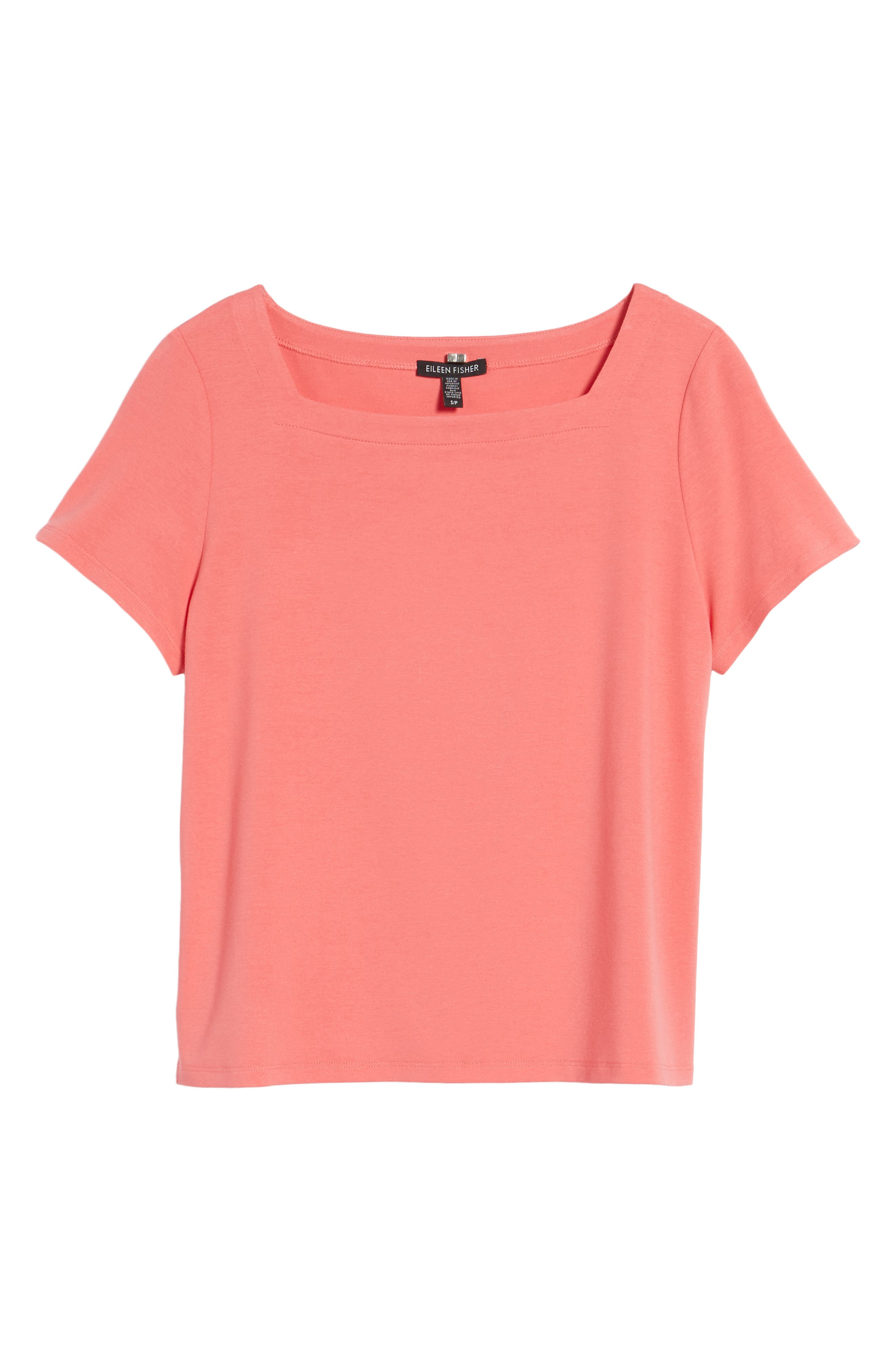 Alternate Image 6  - Eileen Fisher Square Neck Jersey Top