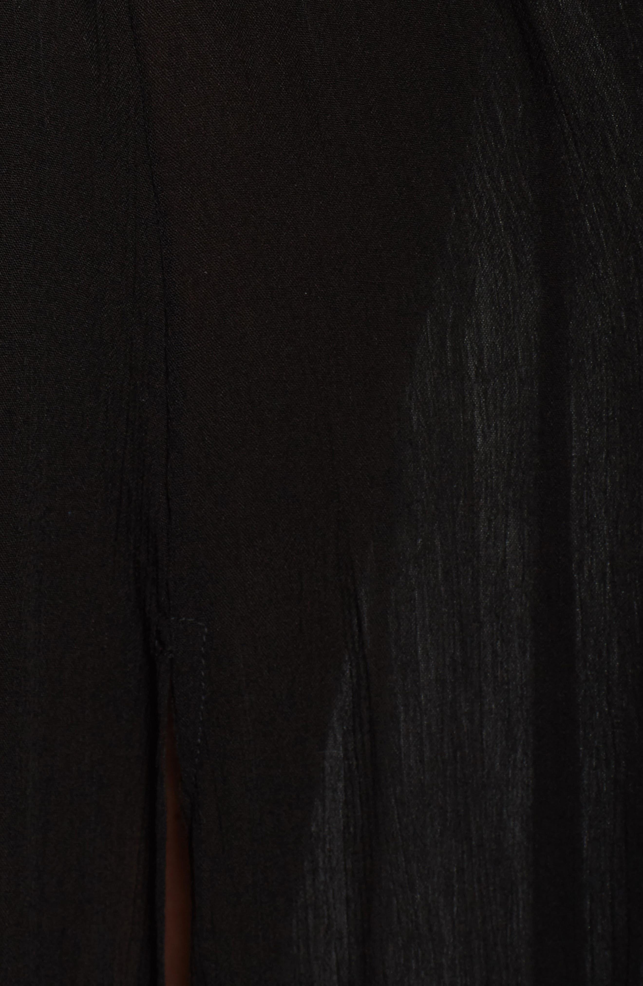 Cutout Maxi Cover-Up Dress,                             Alternate thumbnail 5, color,                             Black