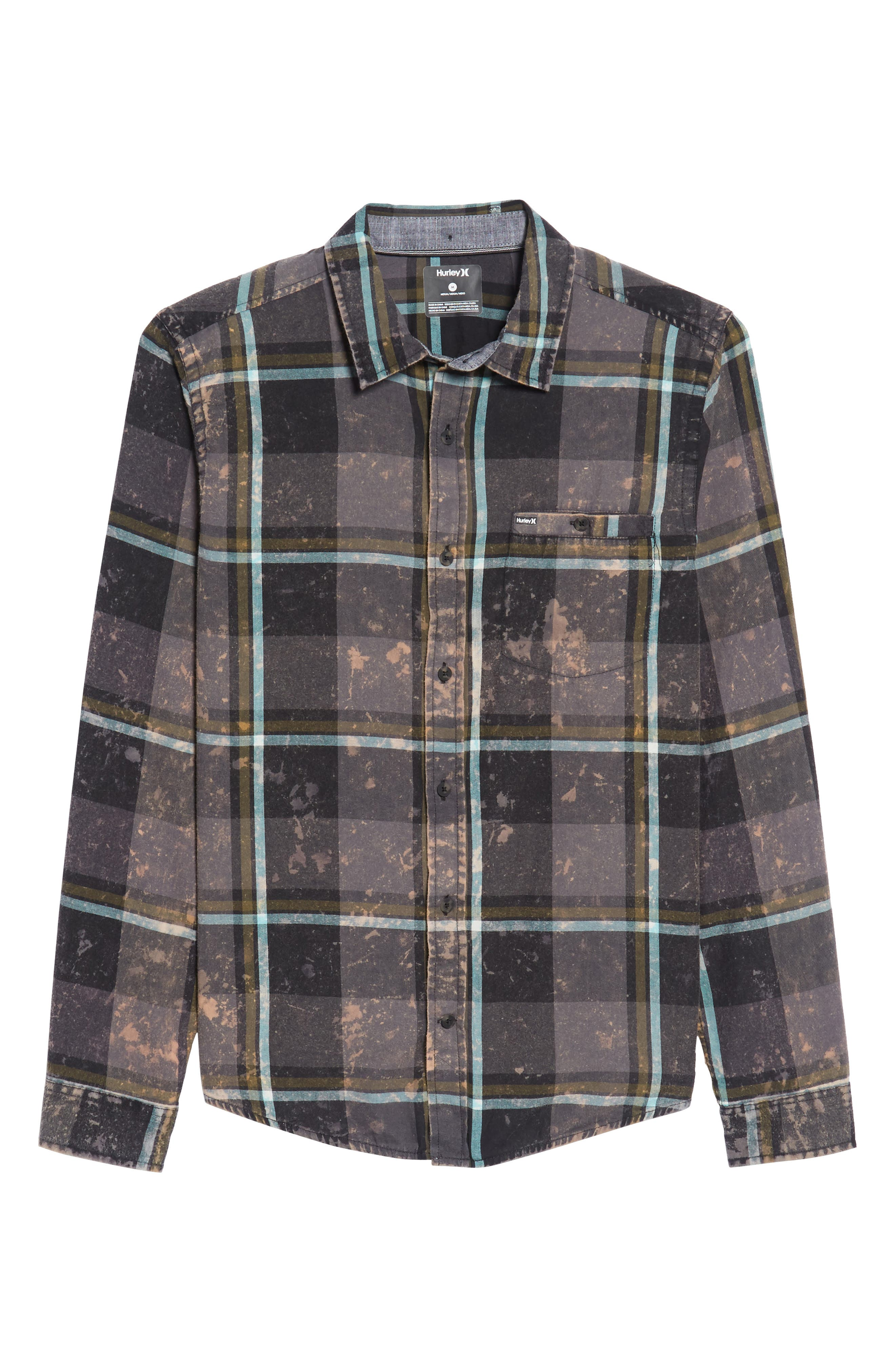 Alternate Image 6  - Hurley Burnside Plaid Shirt