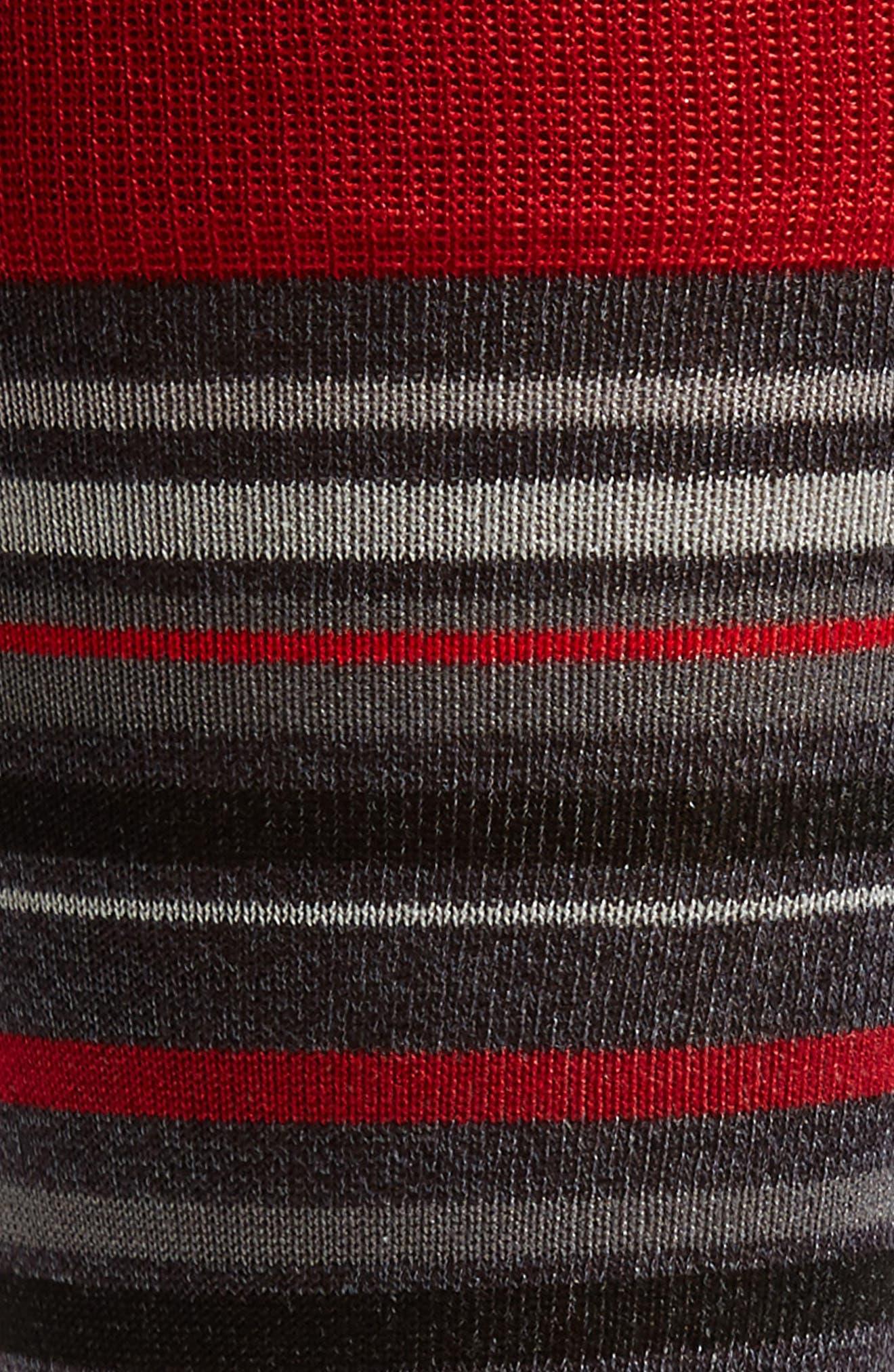 Alternate Image 2  - Bugatchi Multi Stripe Crew Socks