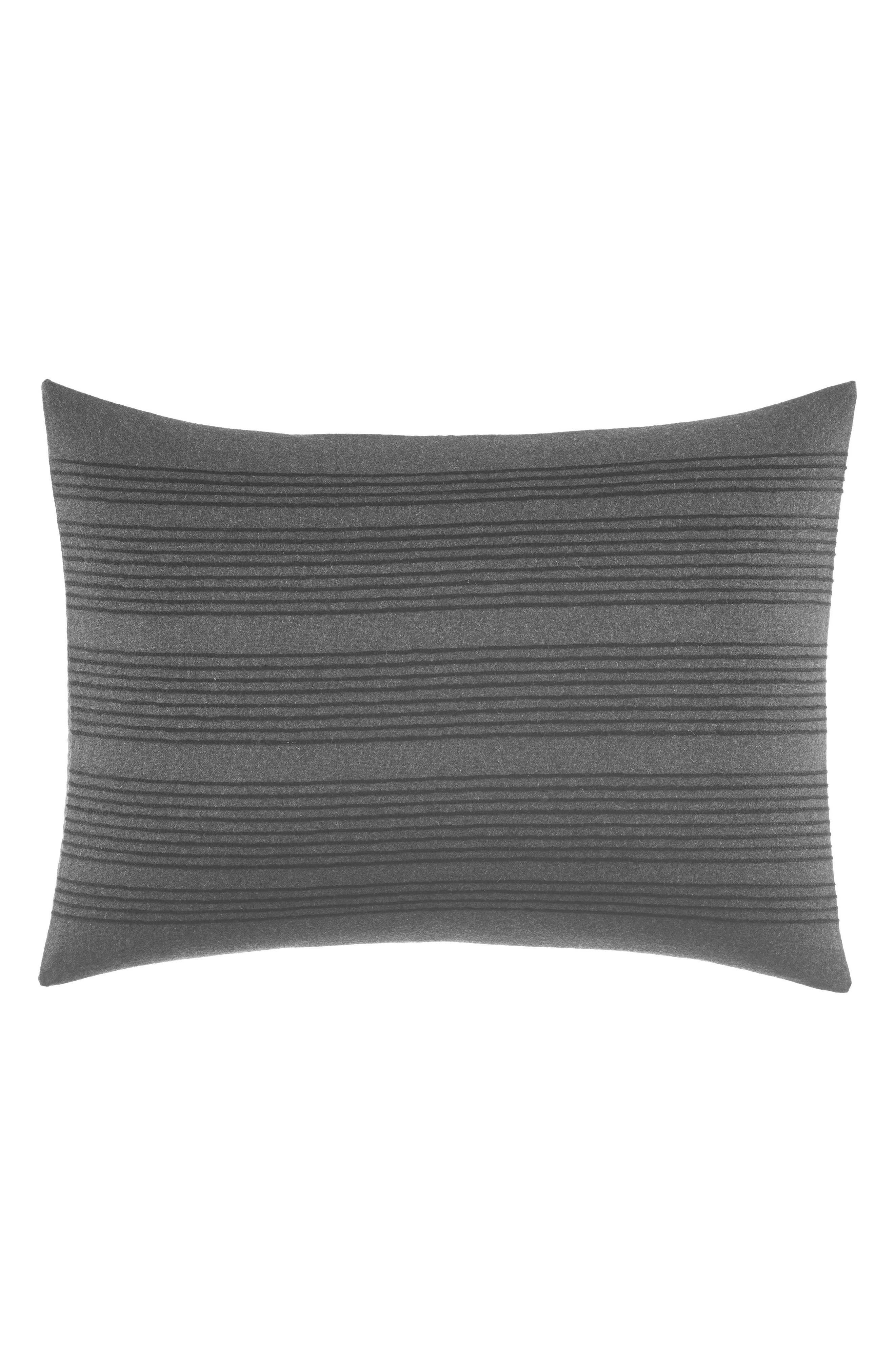 Vera Wang Charcoal Stripe Accent Pillow
