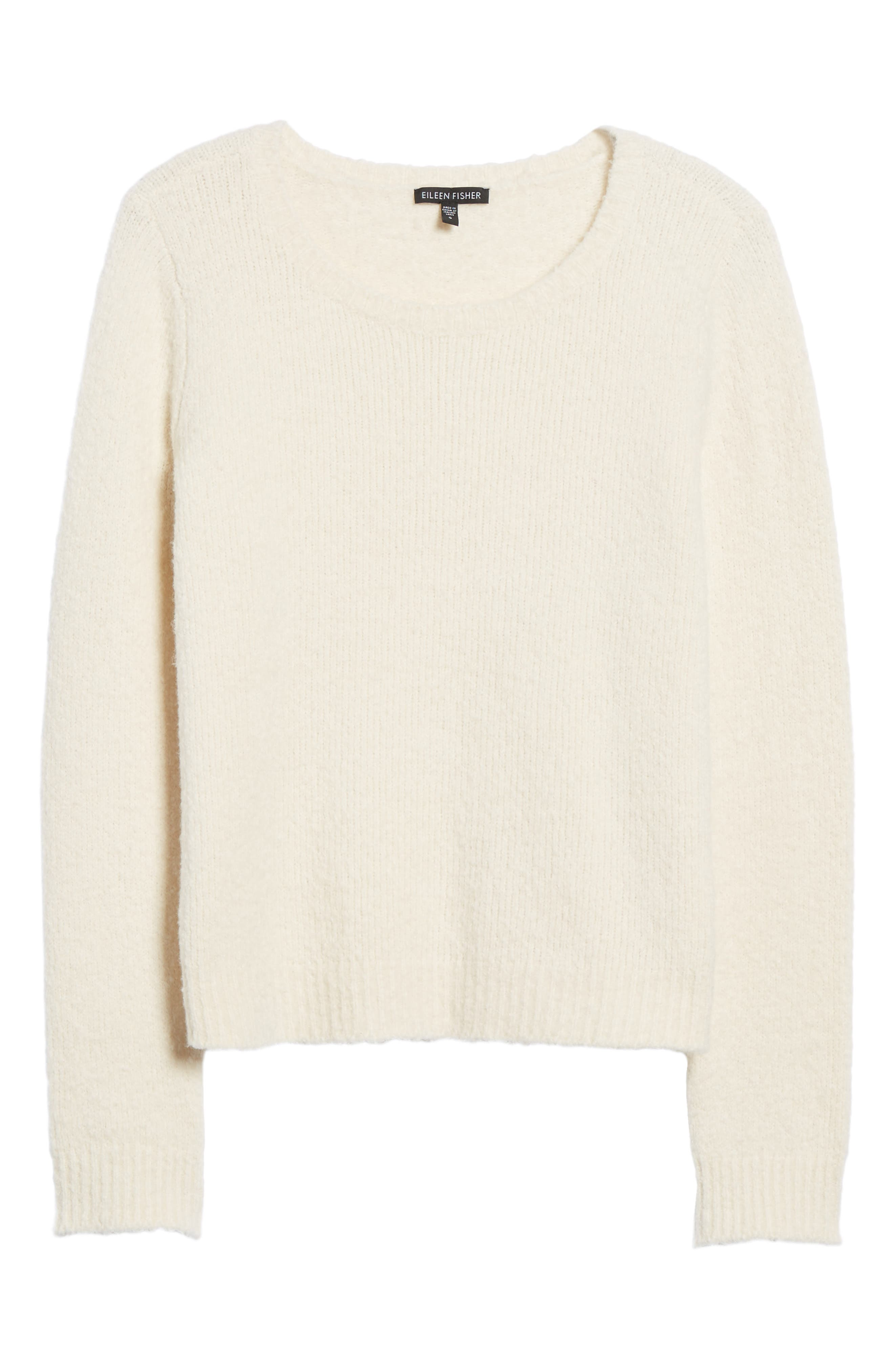 Organic Cotton Blend Sweater,                             Alternate thumbnail 6, color,                             Soft White